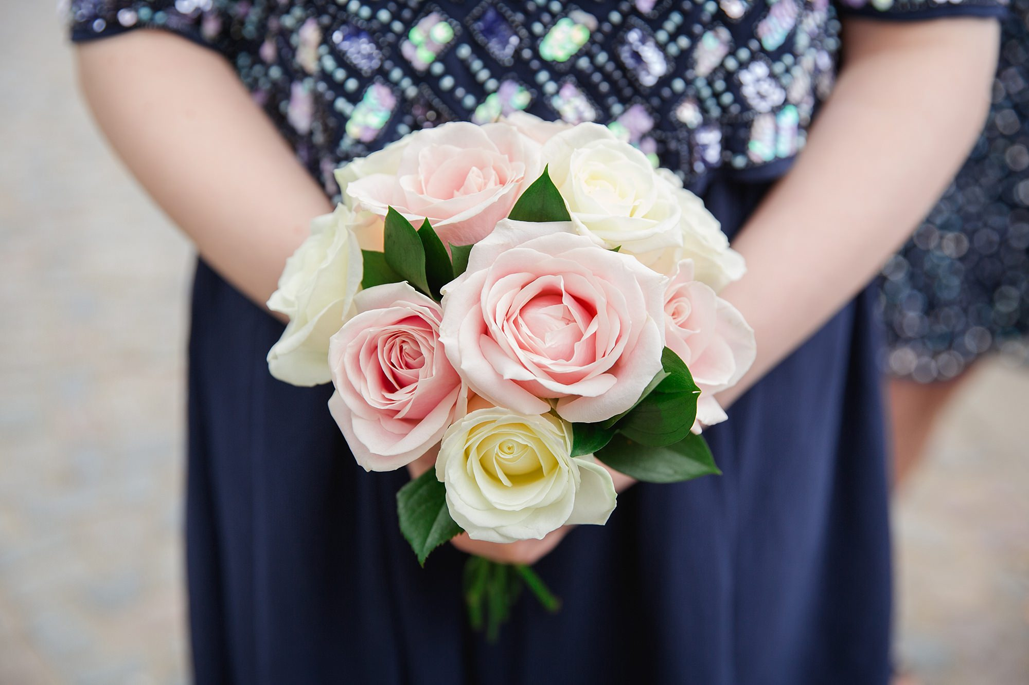 Trafalgar Tavern wedding bridesmaids bouquet close up