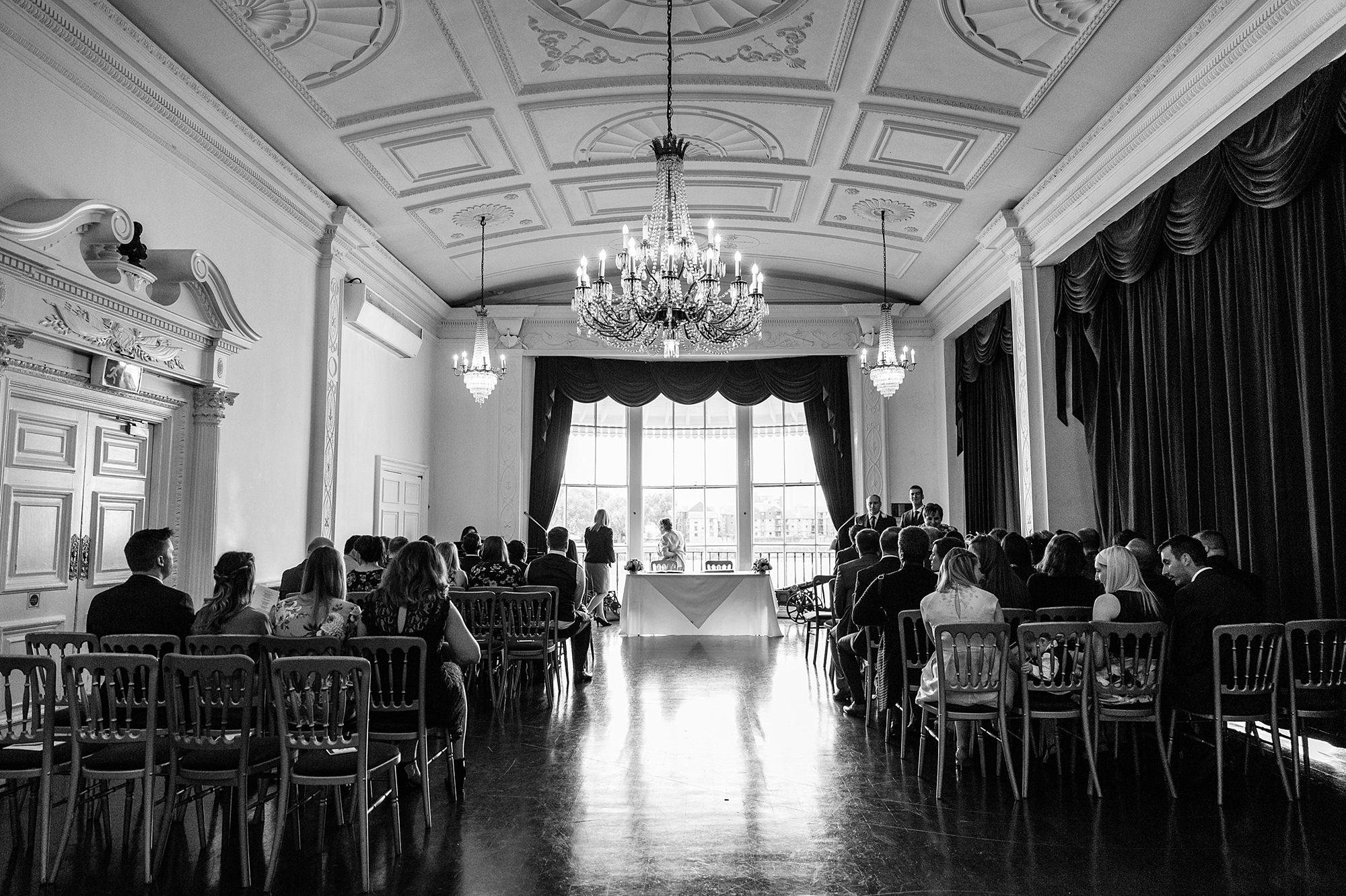 Trafalgar Tavern wedding ceremony room