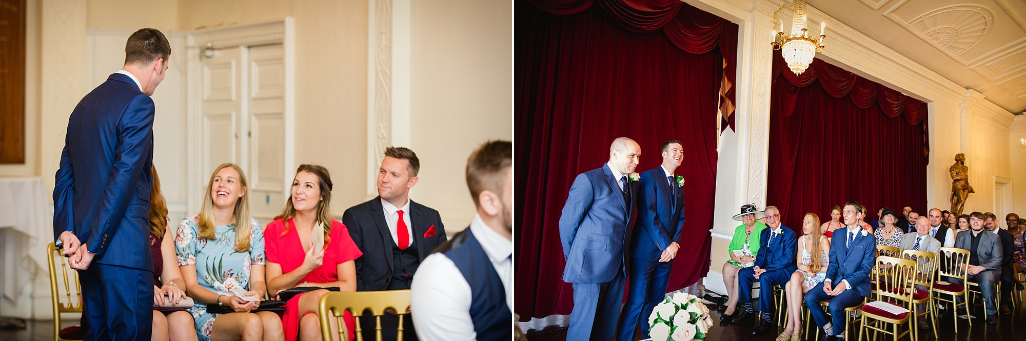 Trafalgar Tavern wedding guests before ceremony