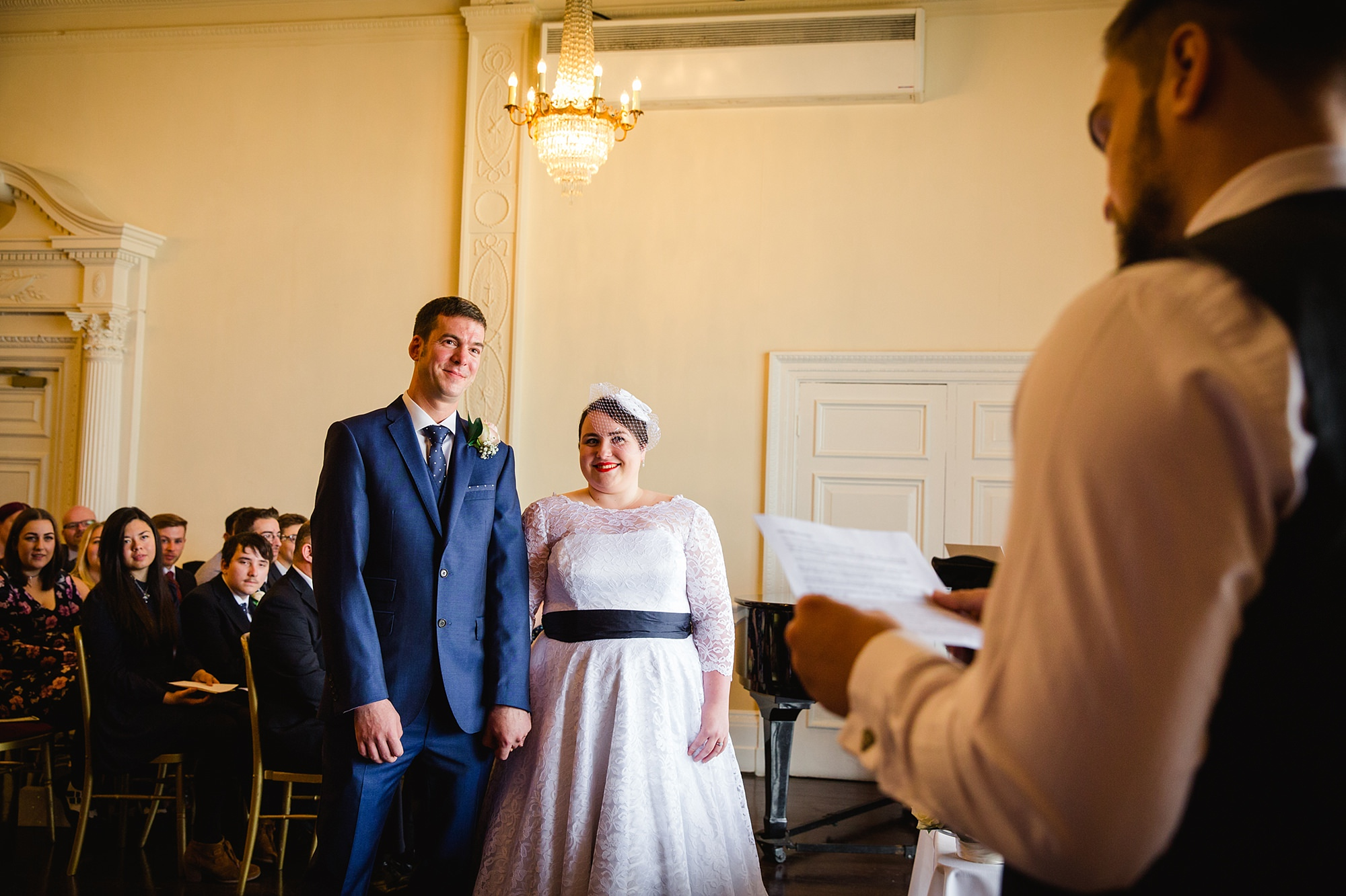 Trafalgar Tavern wedding reading during ceremony