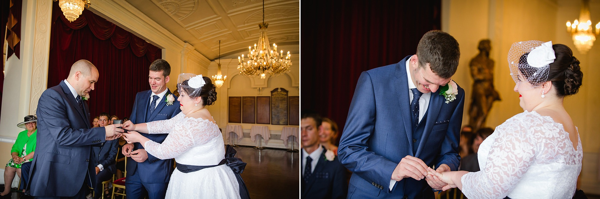 Trafalgar Tavern wedding exchange of rings
