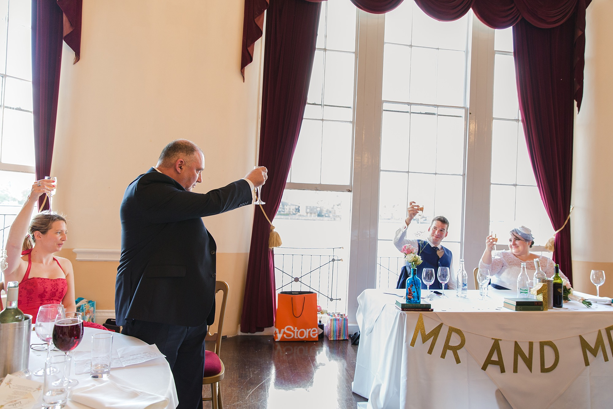 Trafalgar Tavern wedding father of bride's speech
