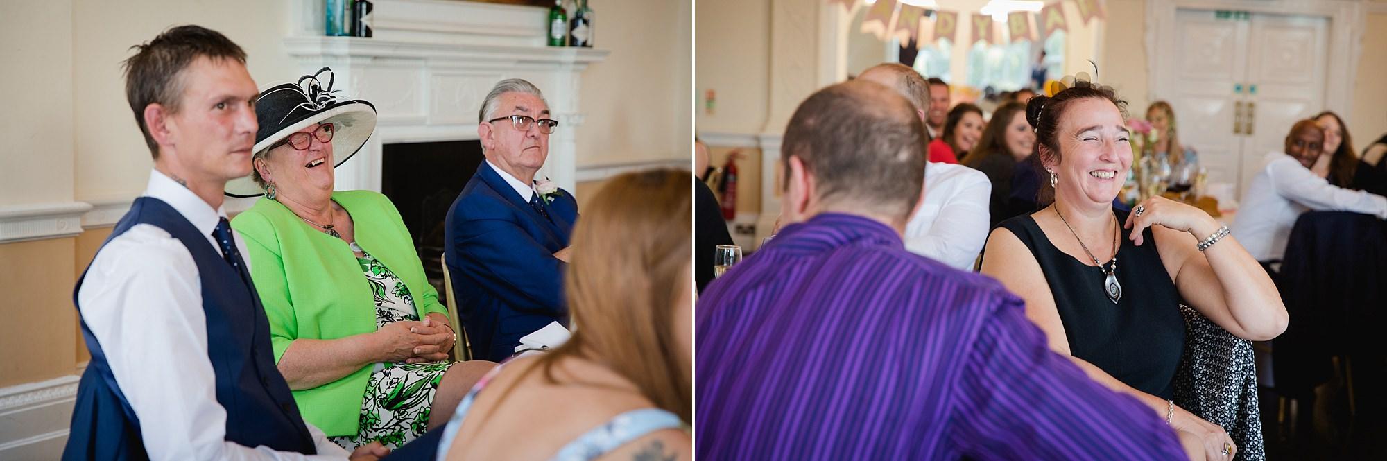 Trafalgar Tavern wedding guest reactions at groom's speech