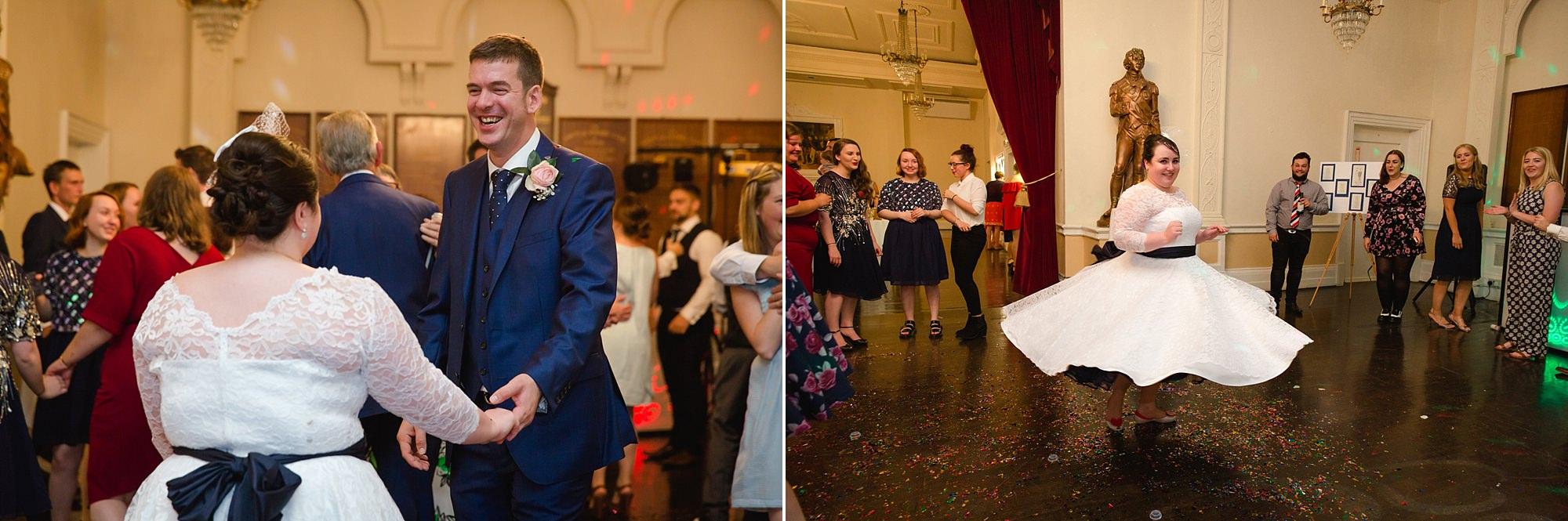 Trafalgar Tavern wedding dancing guests