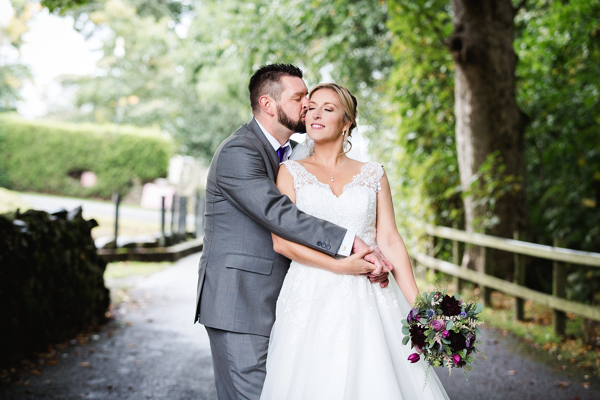 A fun wedding at Plas Isaf portrait of bride and groom