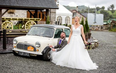 A fun wedding with Mini Cooper and Lego – Liz & Steve at Plas Isaf