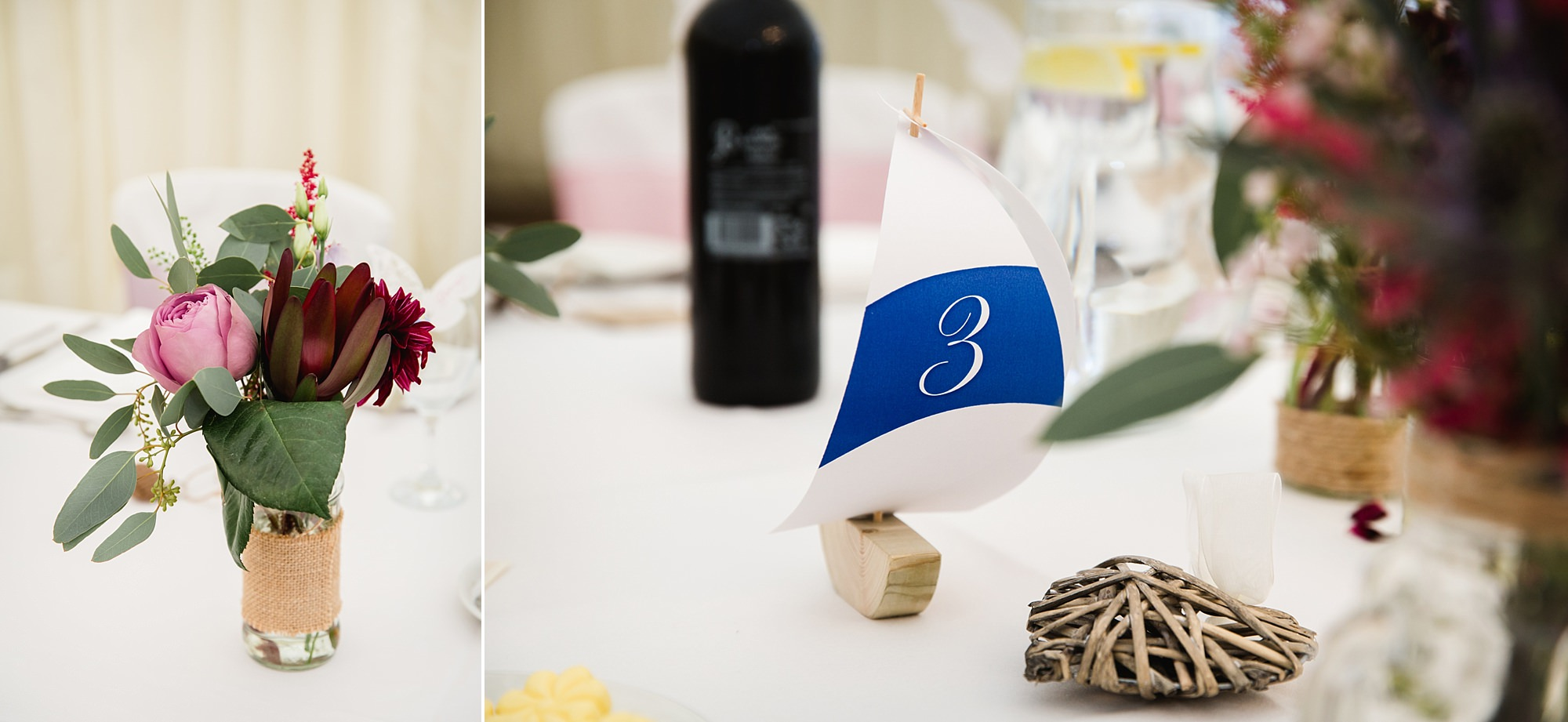 A fun wedding at Plas Isaf sailing boat themed table numbers