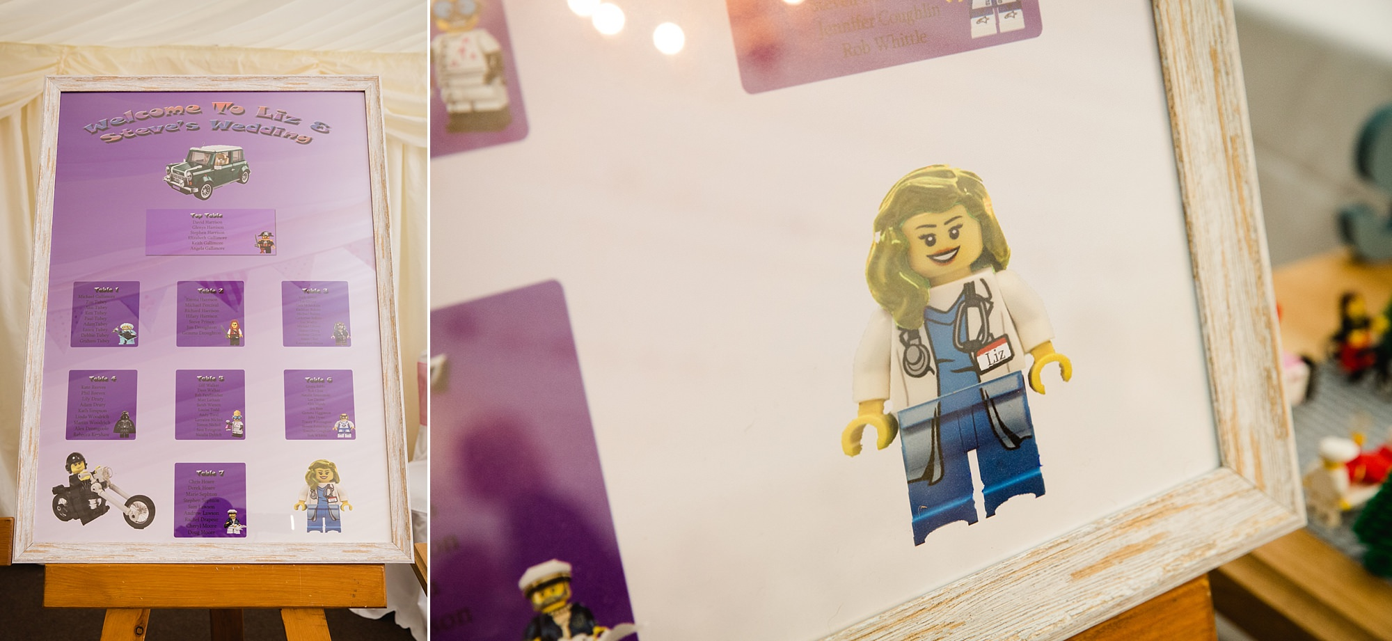 A fun wedding table plan with lego
