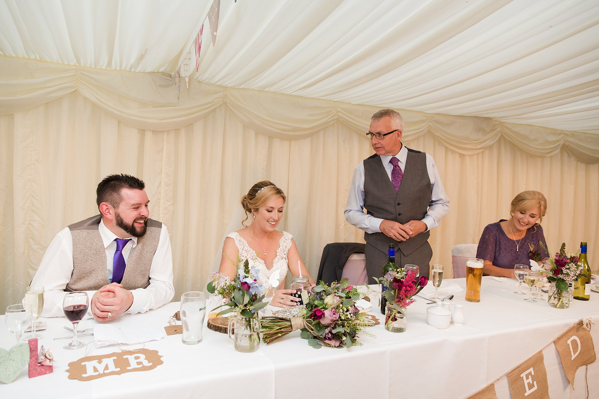 A fun wedding at Plas Isaffather of bride speech