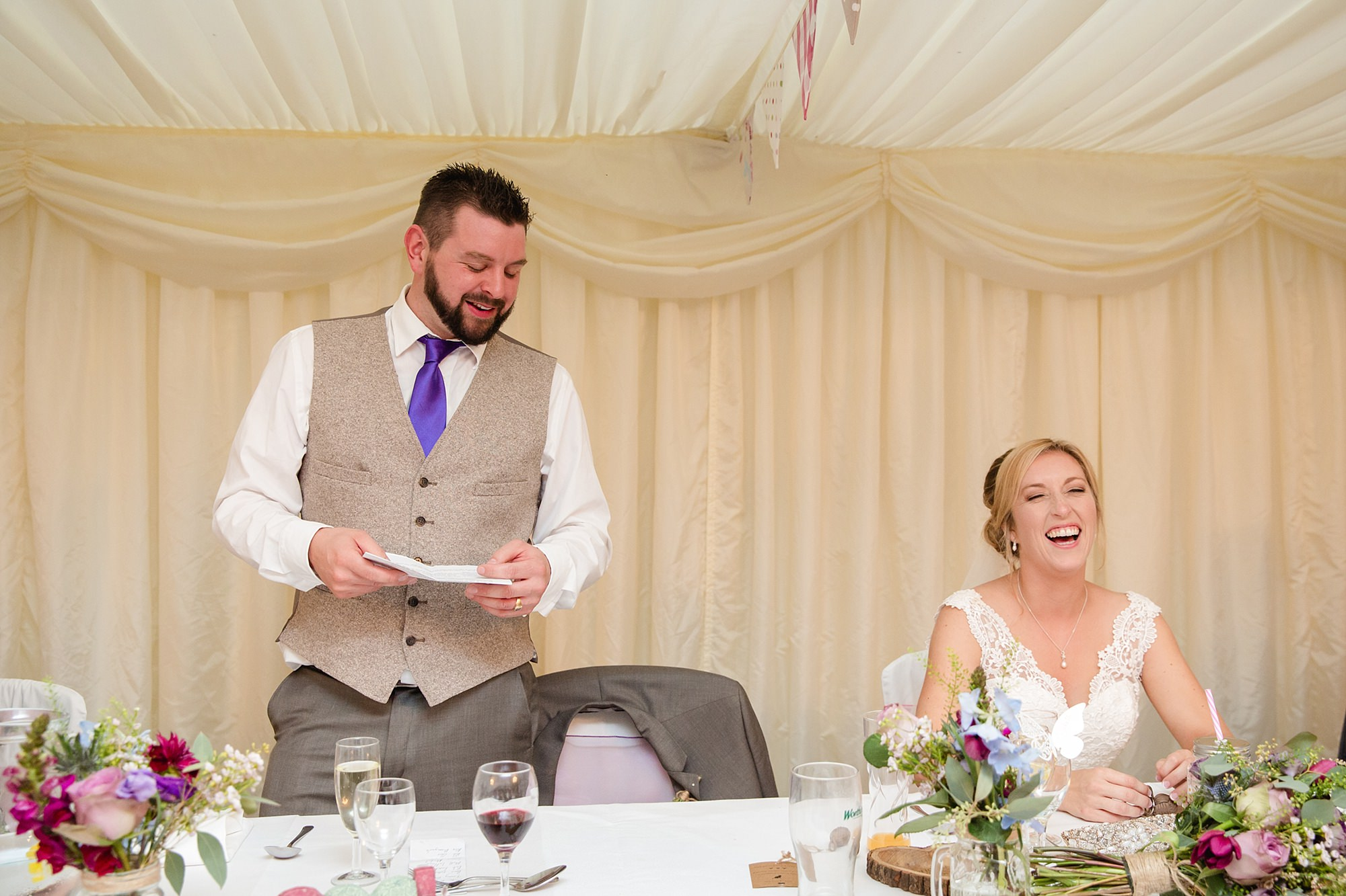 A fun wedding at play Isaf groom's speech
