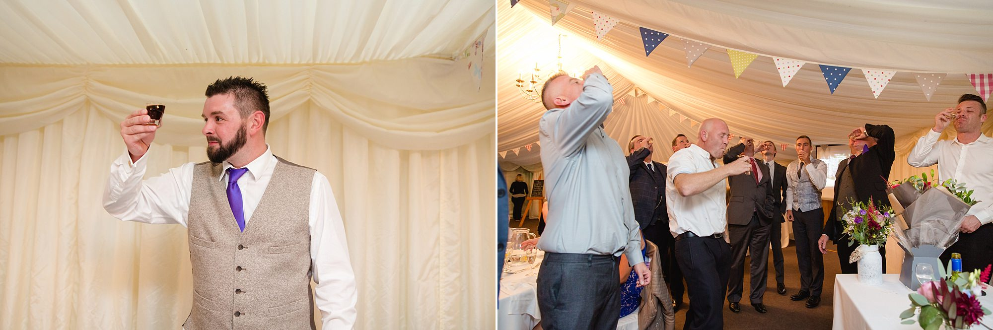 A fun wedding toast with shots during groom's speech