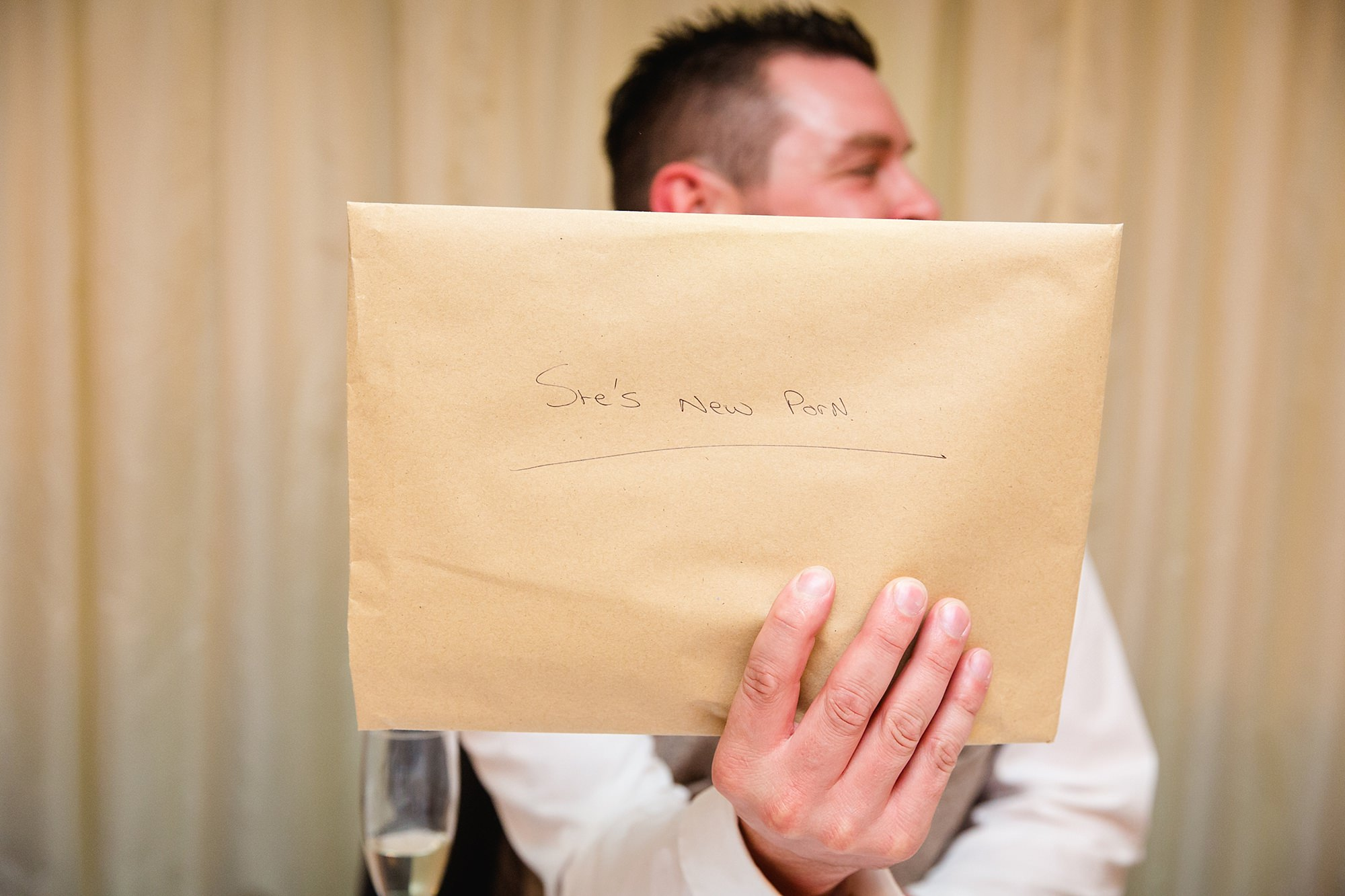 A fun wedding gift to groom from the best man