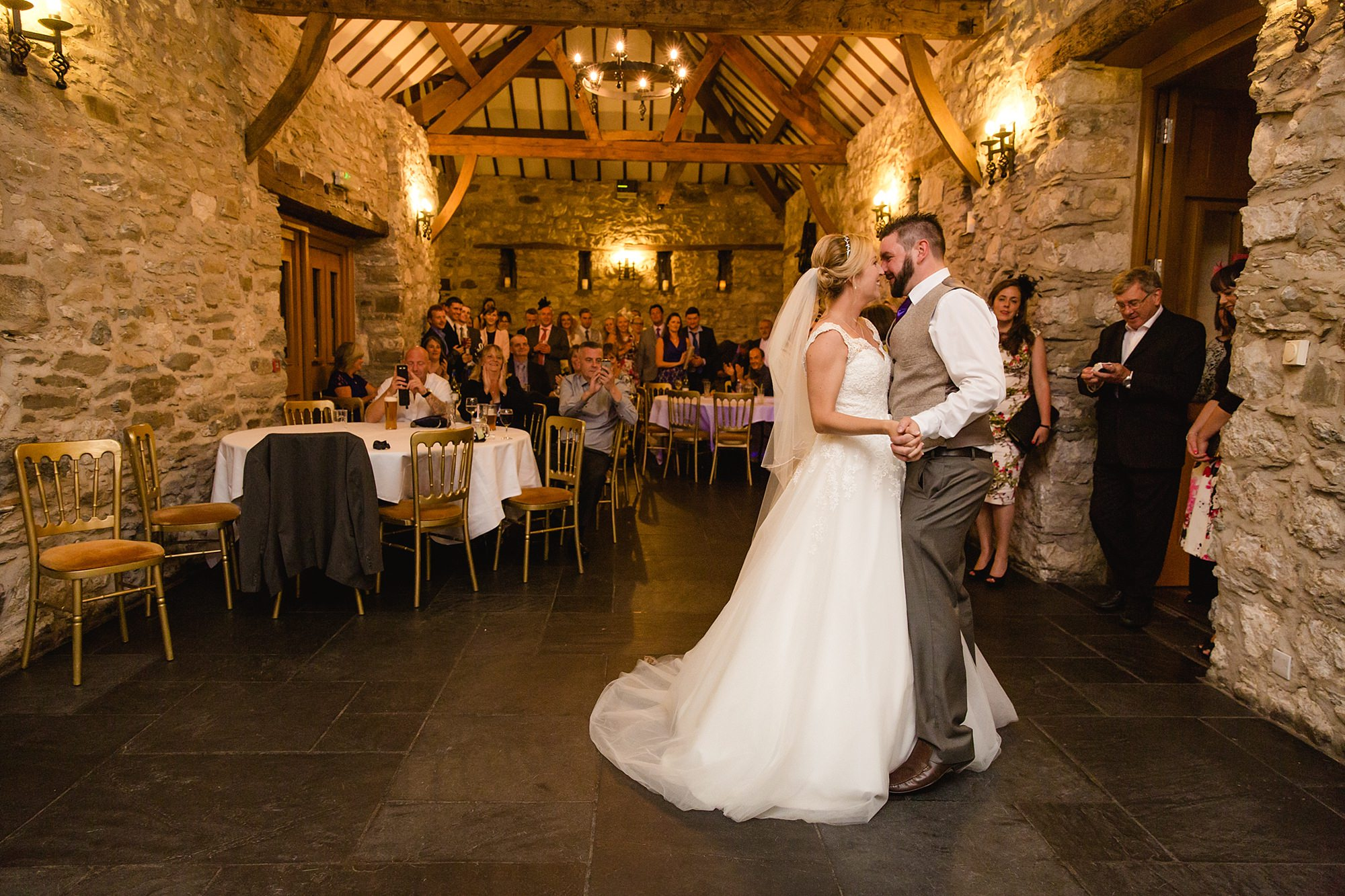 A fun wedding at Plas Isaf first dance