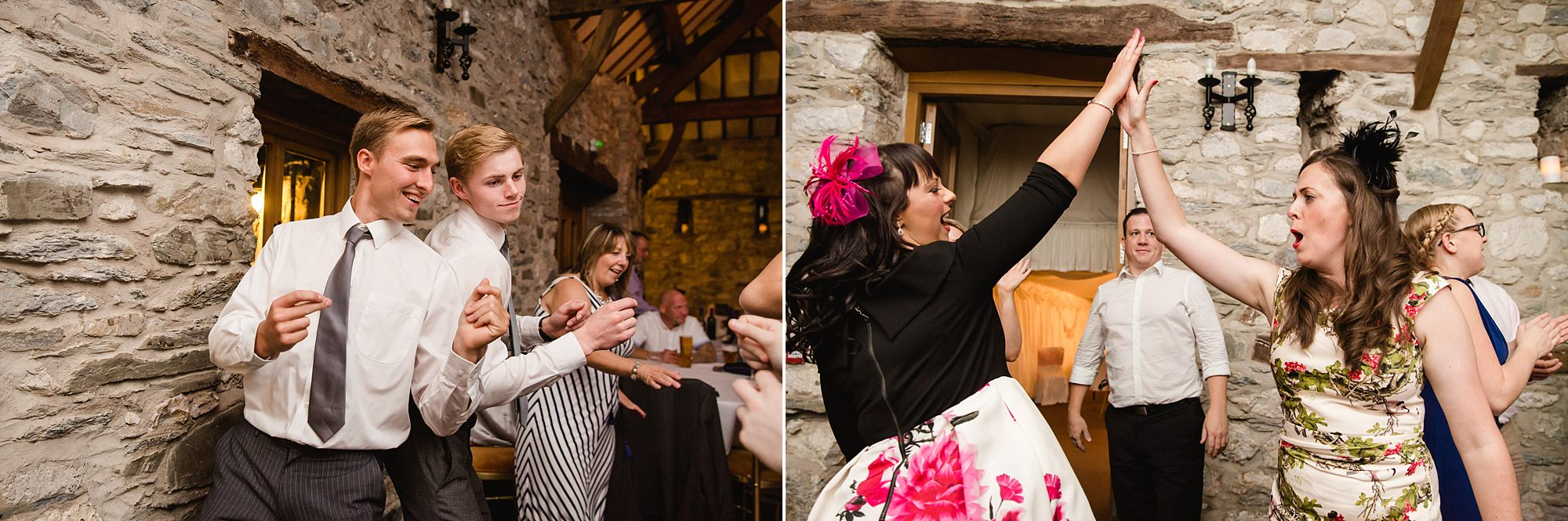 A fun wedding dance at Place Isaf wedding