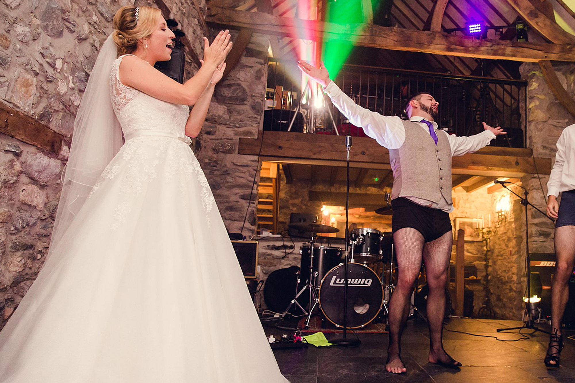 A fun wedding dance to Rocky Horror in fishnets