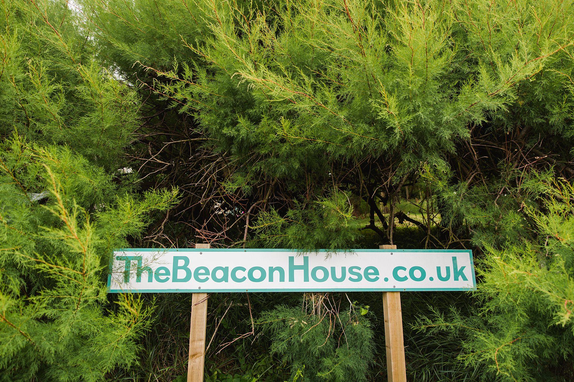 Beacon House wedding beacon house signpost