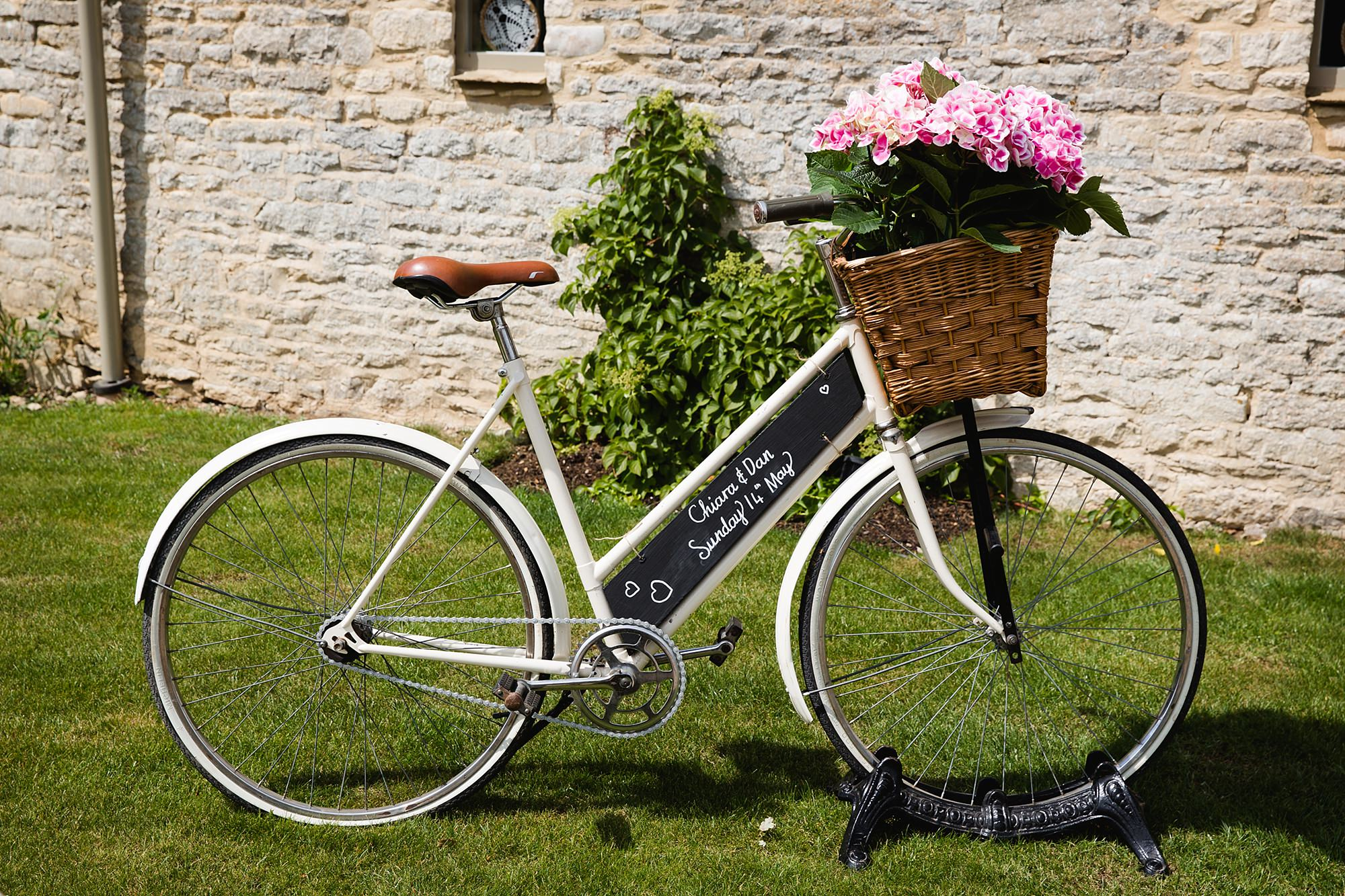 Caswell House Wedding personalised bike for bride and groom