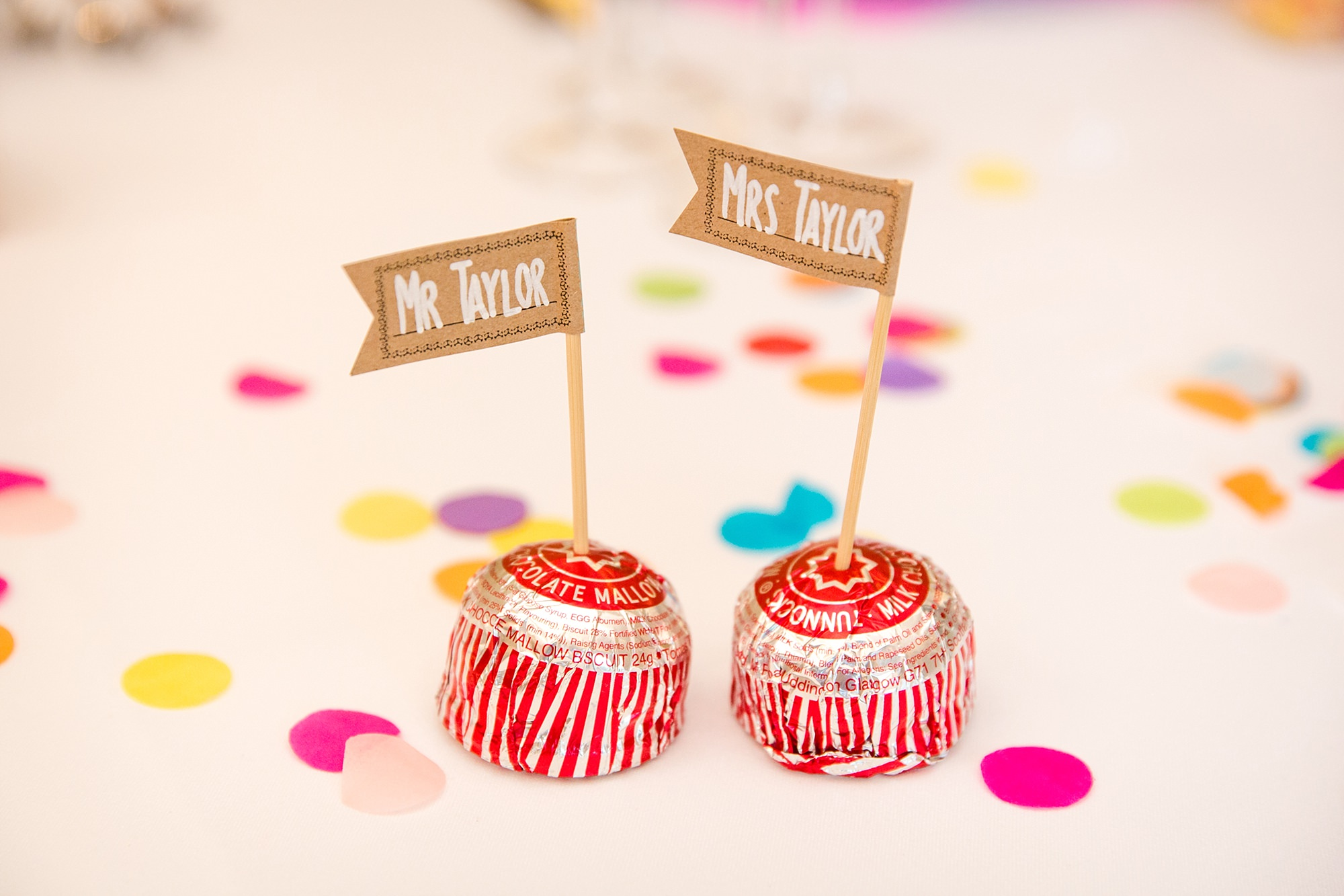 Caswell House Wedding Tunnocks teacakes table decorations