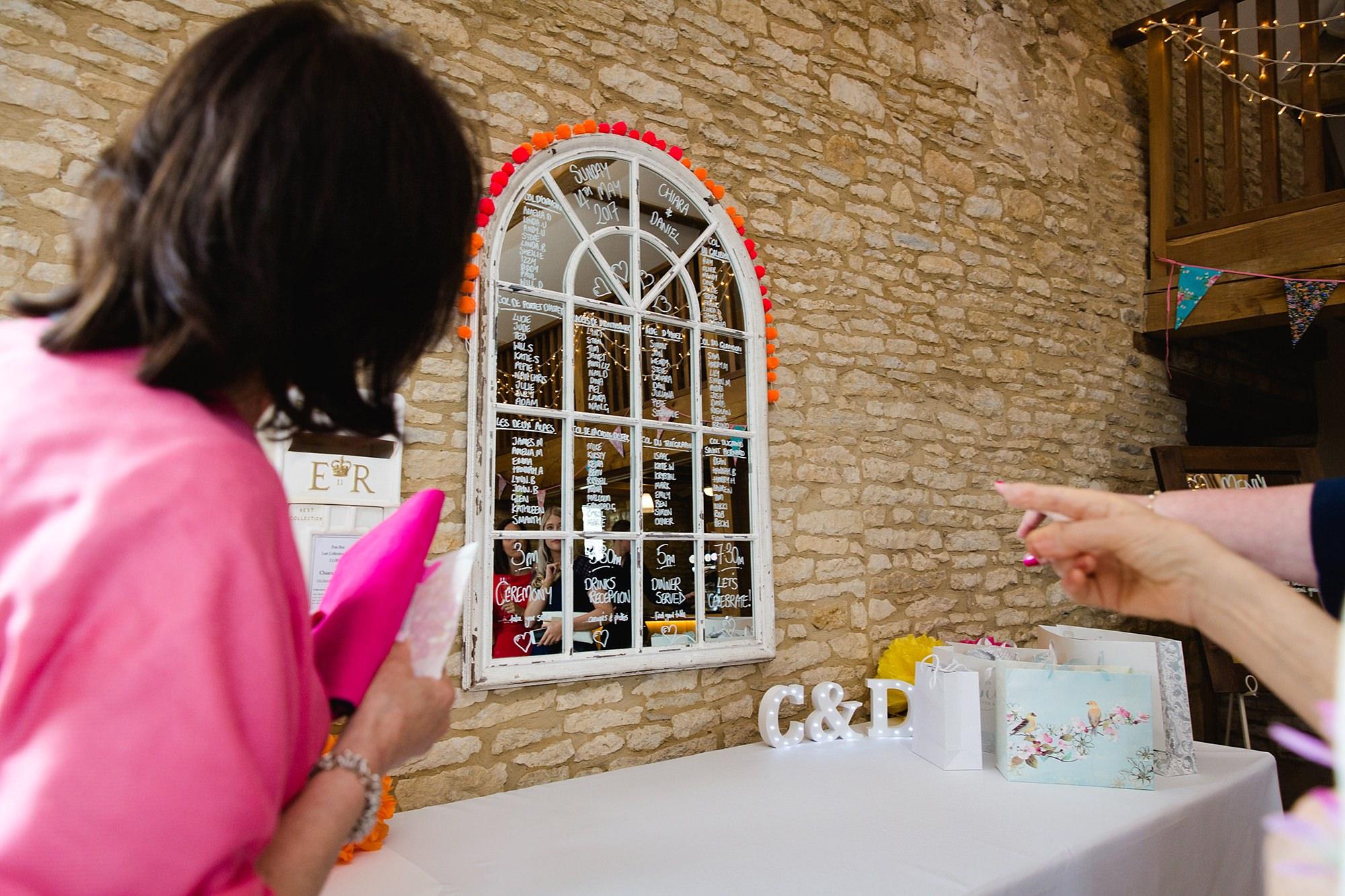 Caswell House Wedding DIY table plan