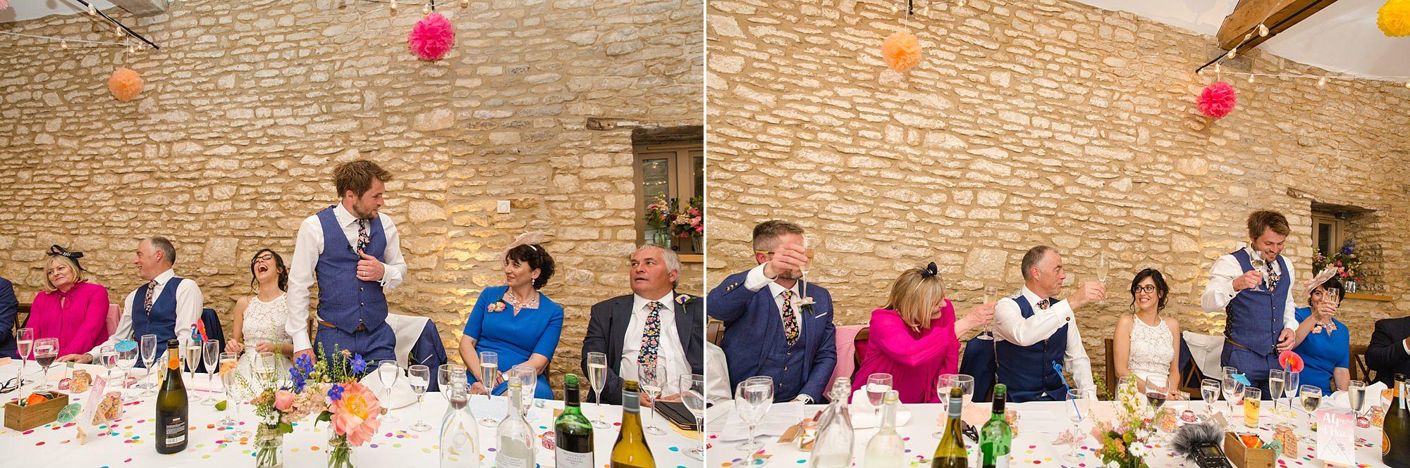Caswell House Wedding groom giving speech