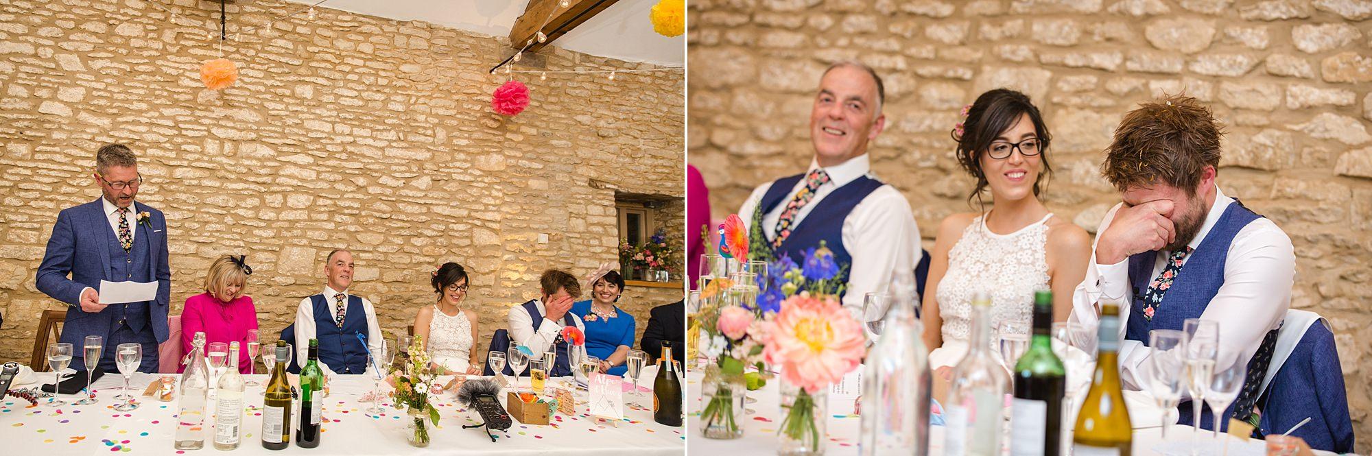 Caswell House Wedding best man gives a speech
