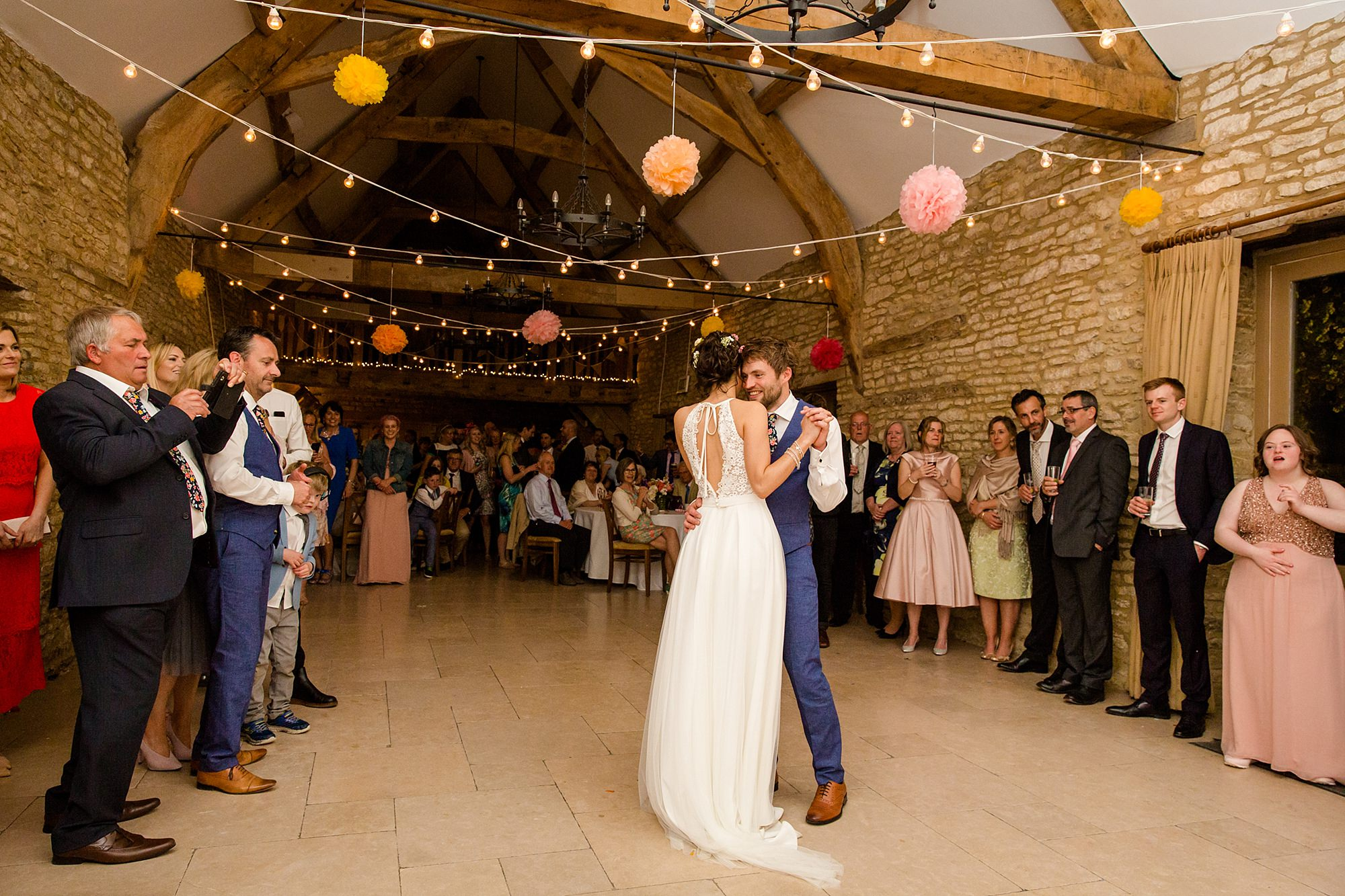 Caswell House Wedding bride and groom's first dance