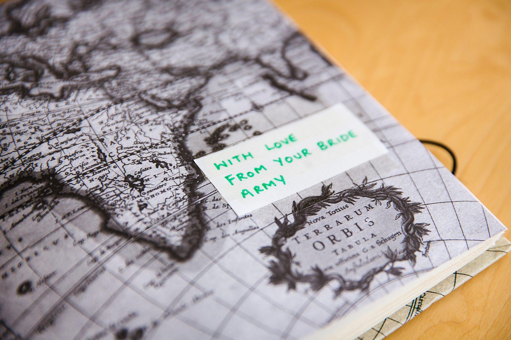Fun London Wedding bridesmaids book gift to bride