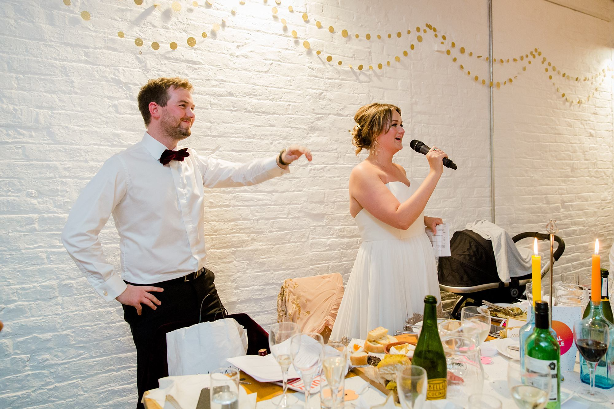 Fun London Wedding bride announces quiz results