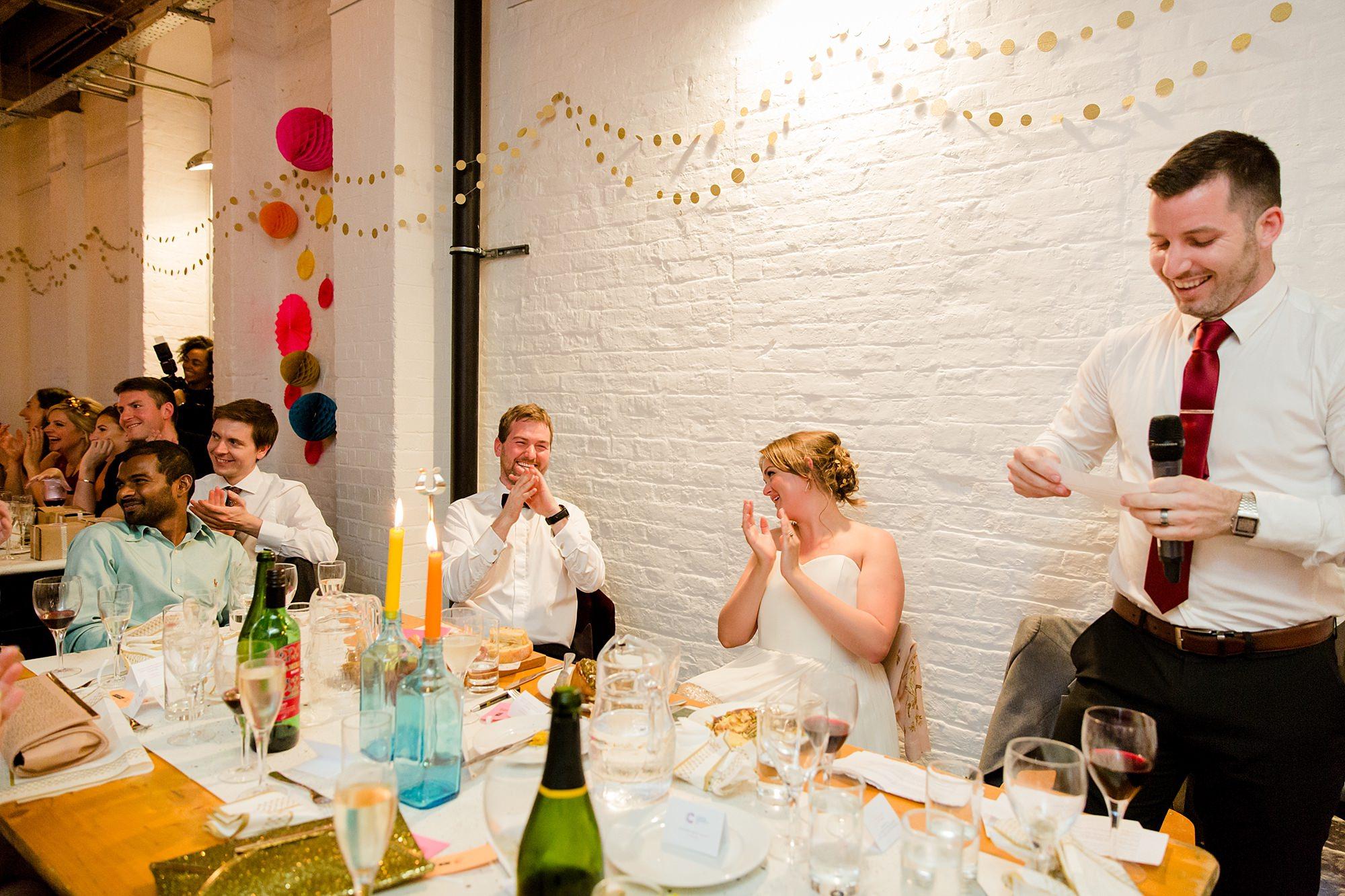 Fun London Wedding best man gives funny speech