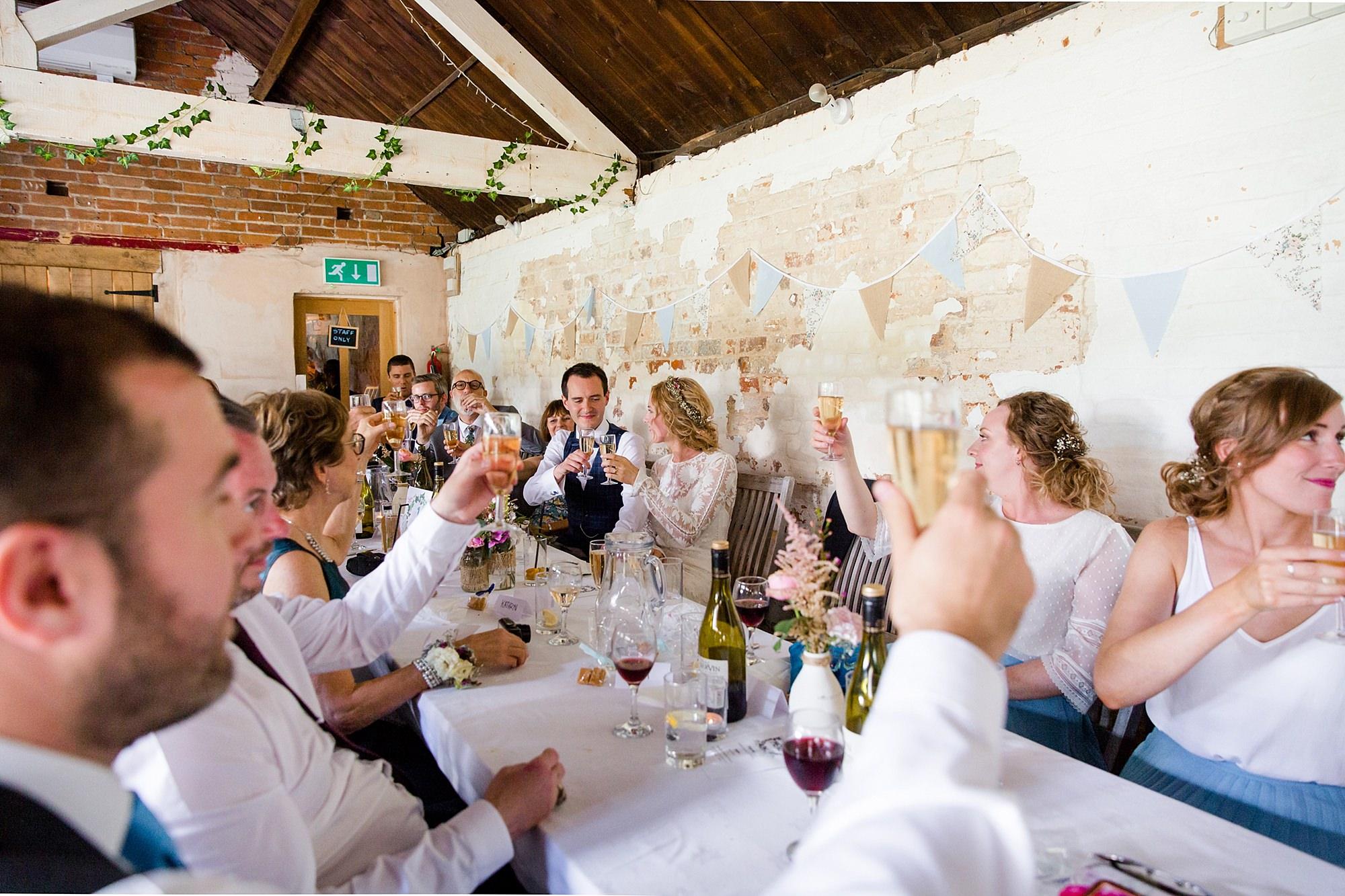 Isis Farmhouse Oxford Wedding wedding guests toast speeches