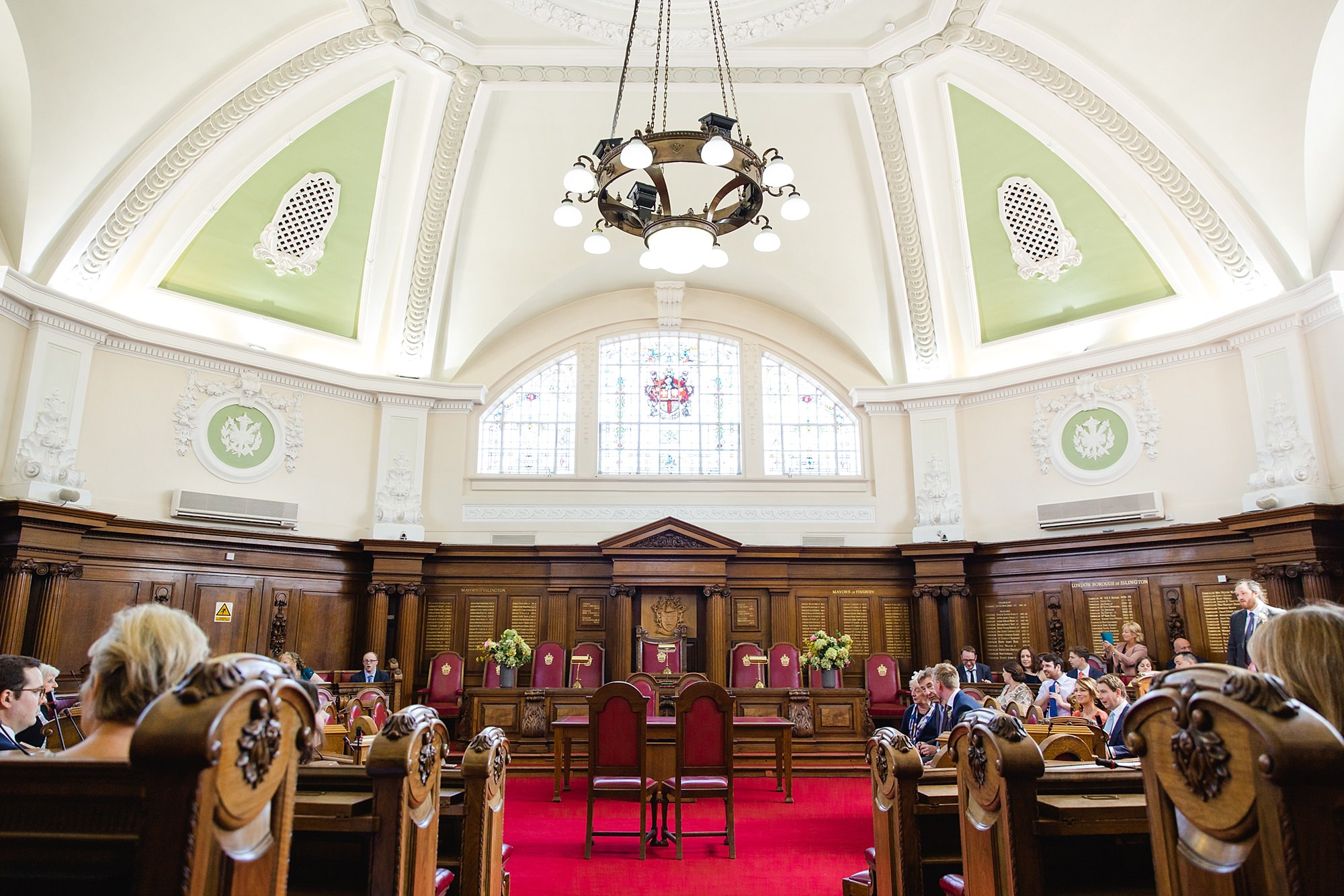oyster shed wedding islington town hall council chamber