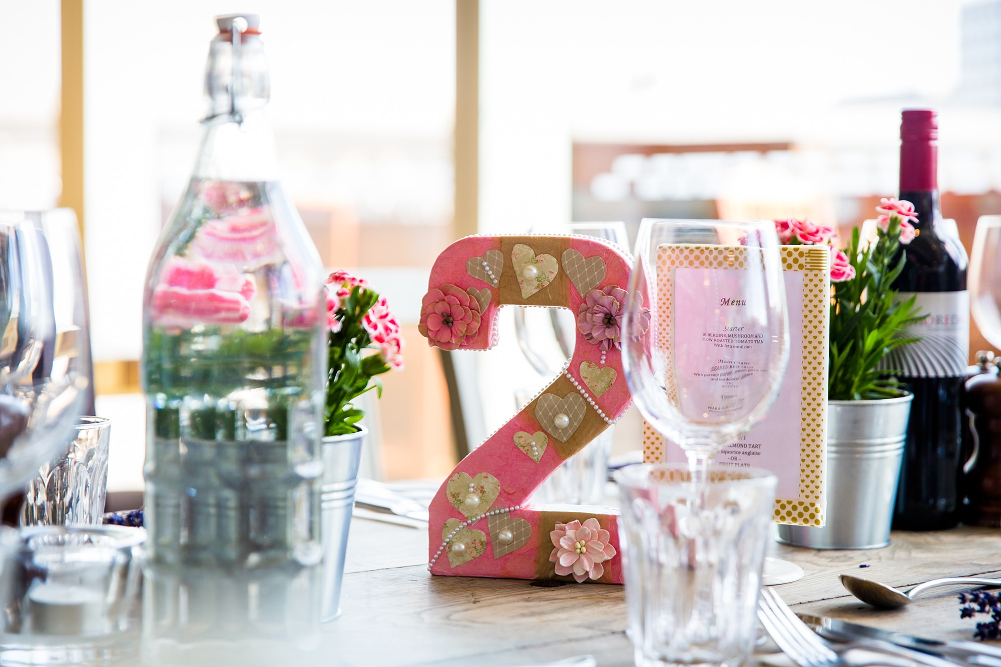 oyster shed wedding handmade table numbers