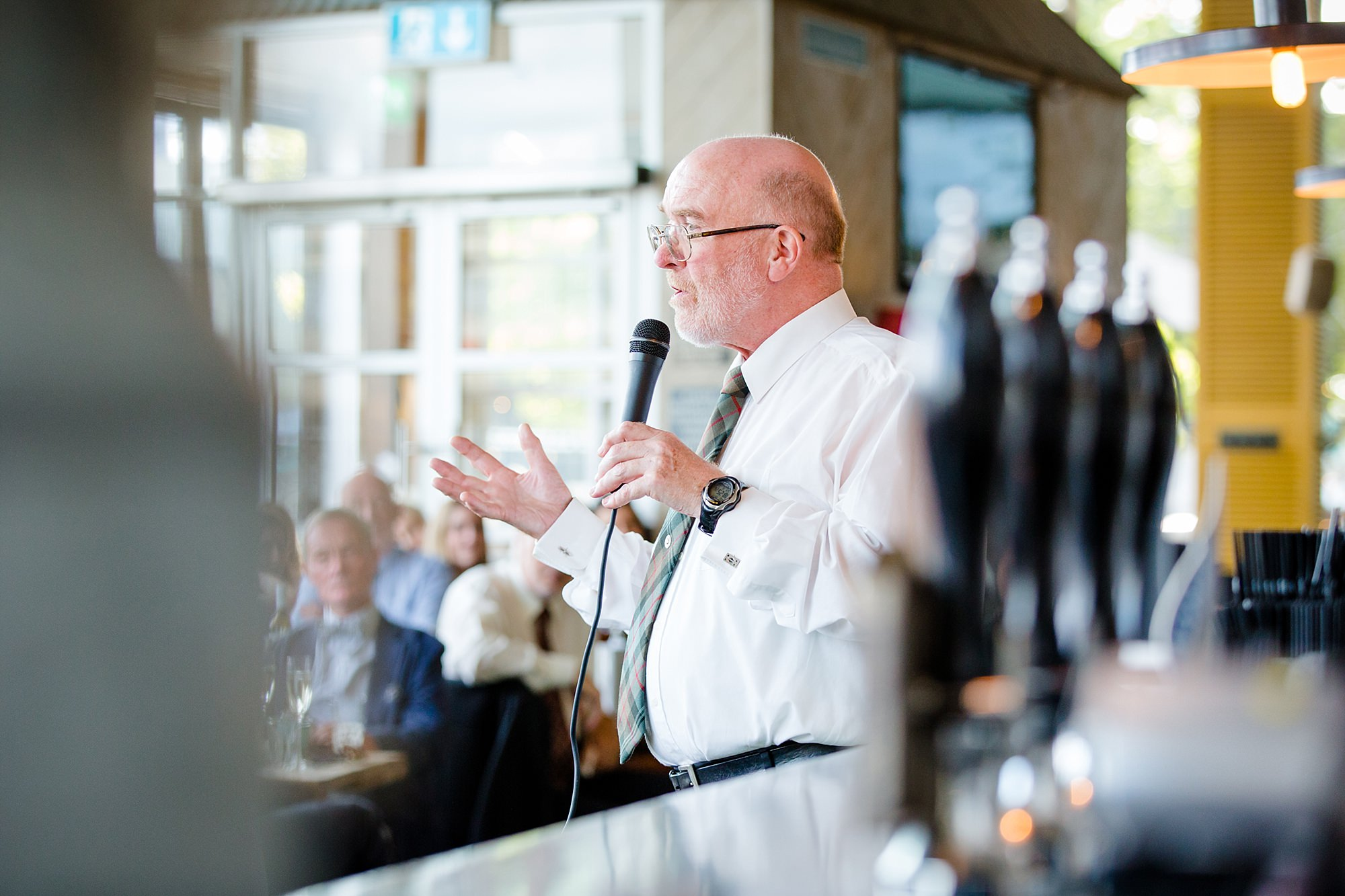 oyster shed wedding father of the bride gives a speech