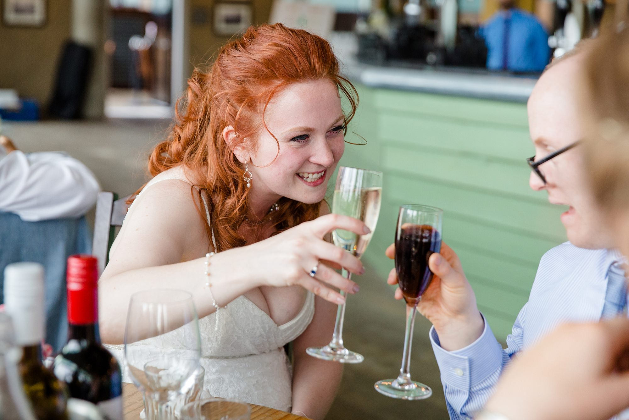 oyster shed wedding bride toasts at oyster shed wedding