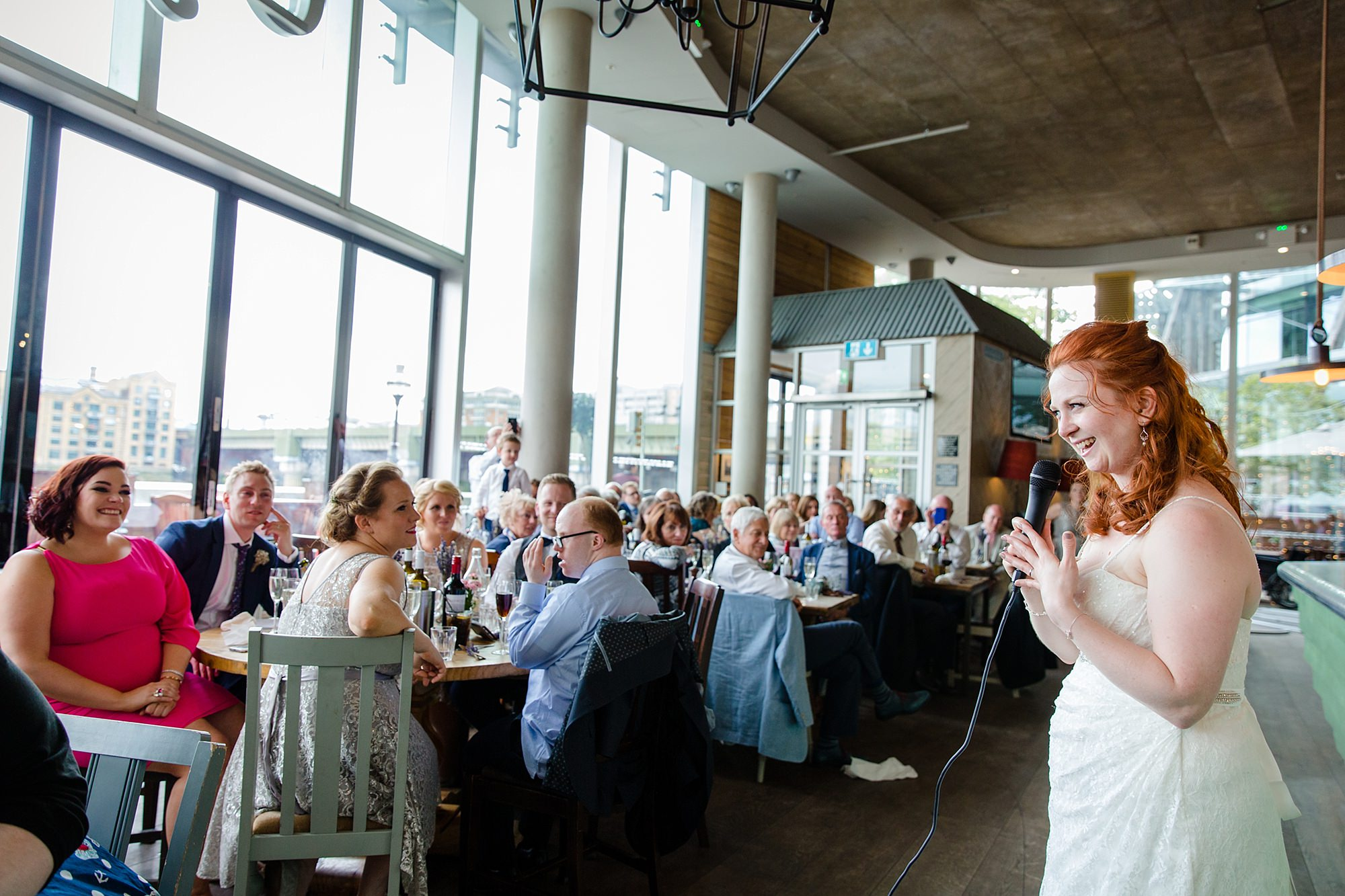 oyster shed wedding bride makes a speech