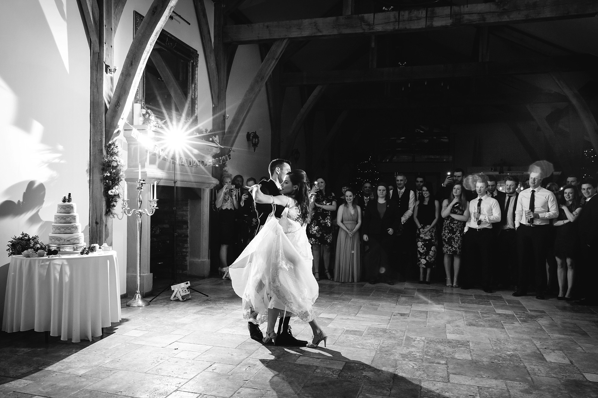 swancar farm wedding bride and groom dance the waltz