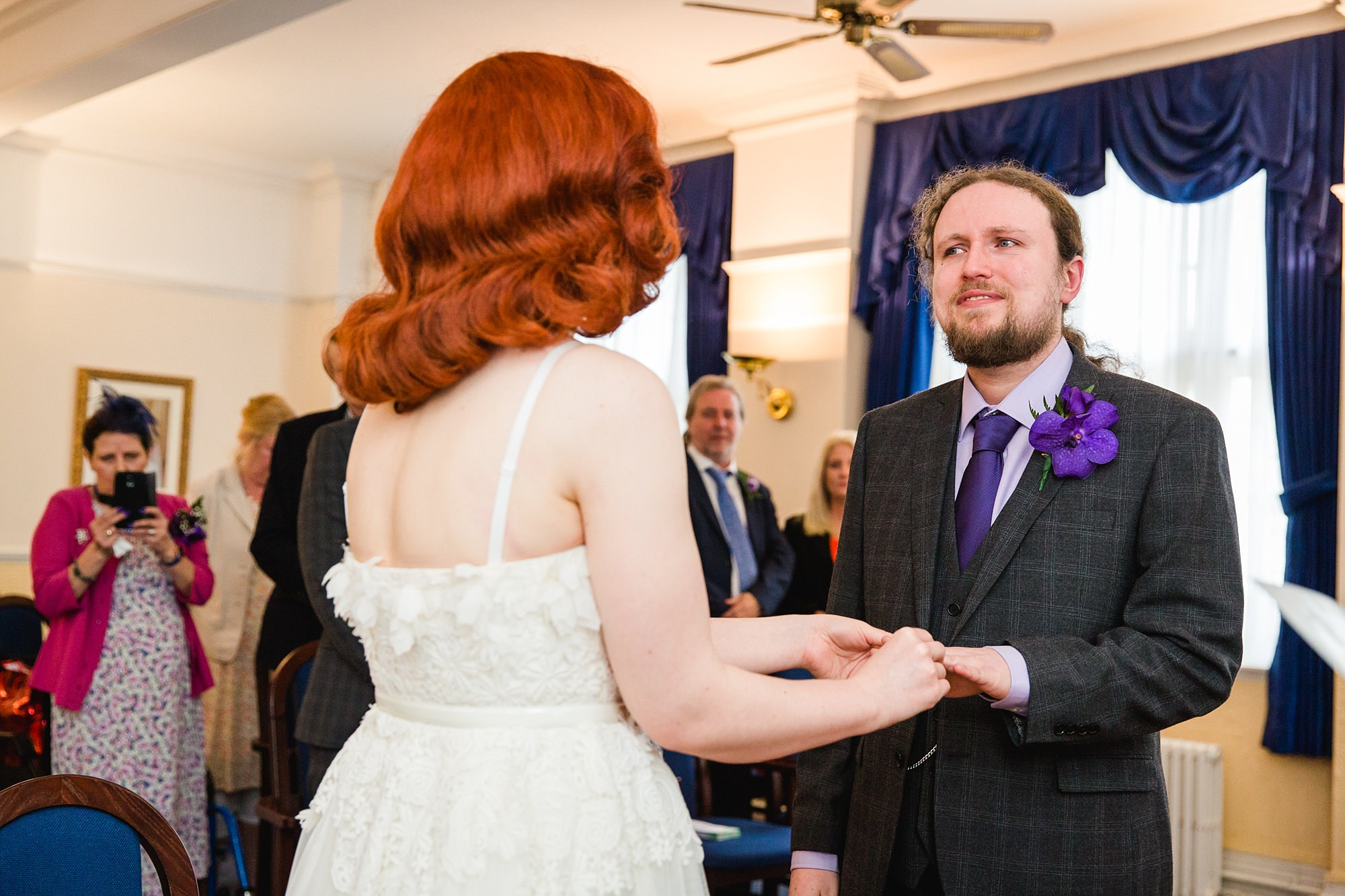 The Grange Ealing wedding bride and groom exchange rings