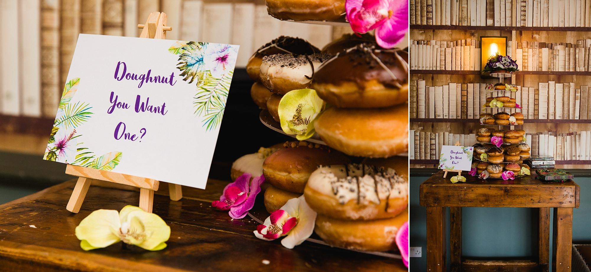 The Grange Ealing wedding doughnut wedding cake