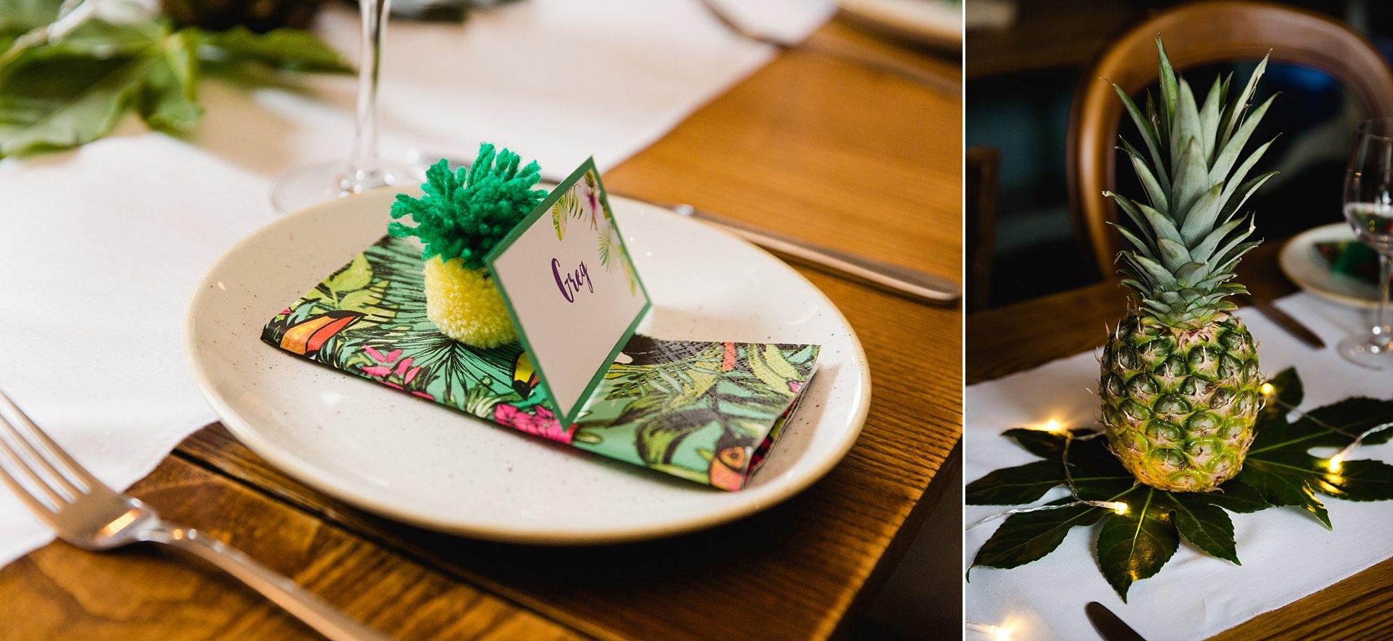 The Grange Ealing wedding handmade fruit table decorations