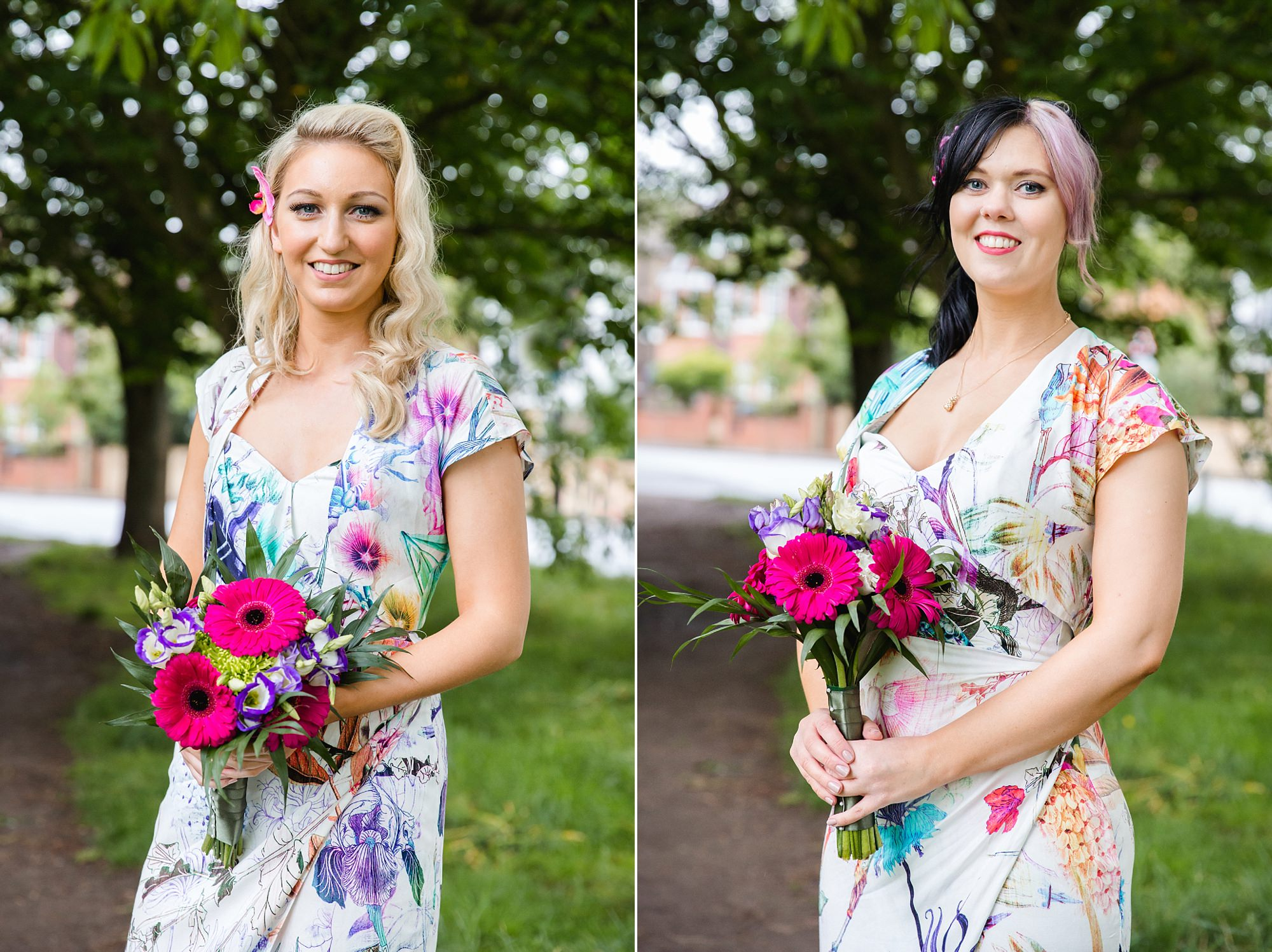 The Grange Ealing wedding tropical themed bridesmaids