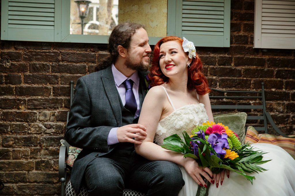 The Grange Ealing wedding – Kat & Liam's tropical pub wedding