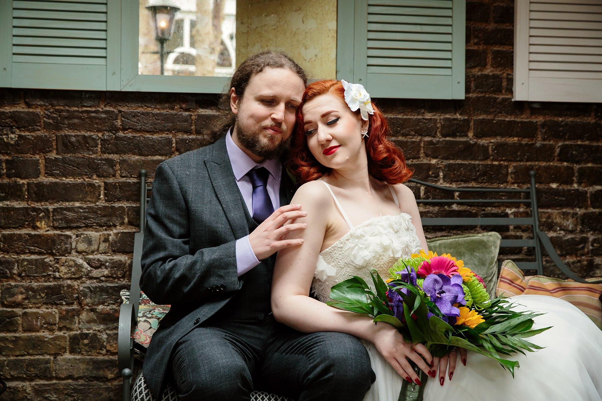 The Grange Ealing wedding vintage bride and groom