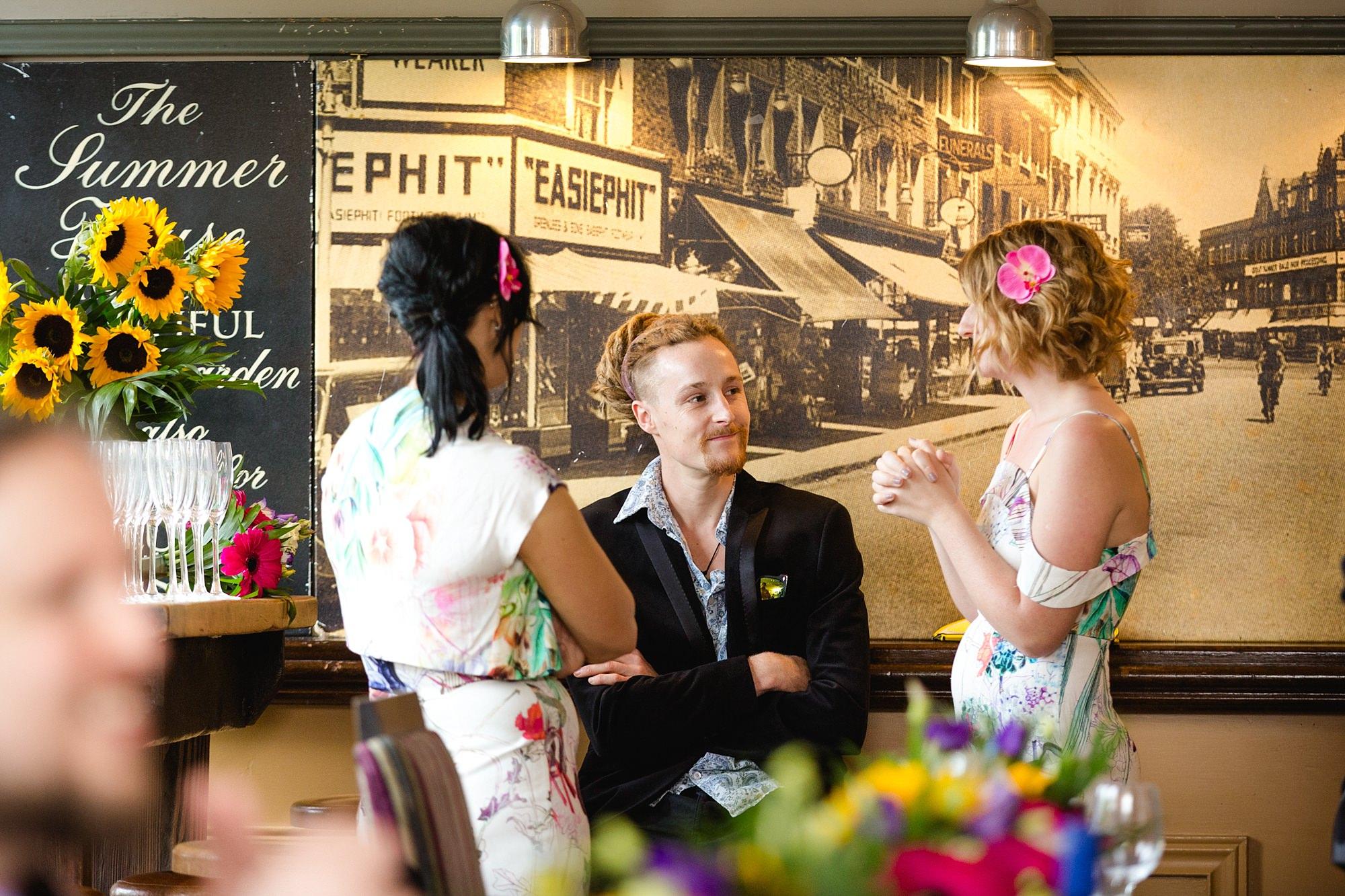 The Grange Ealing wedding guests enjoying reception