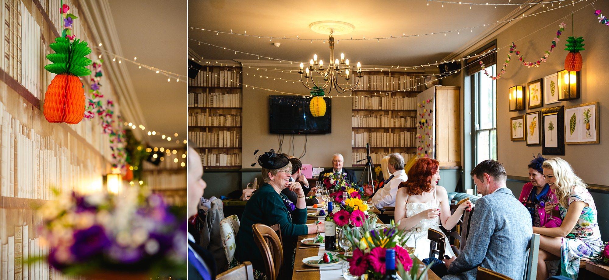 The Grange Ealing wedding dinner