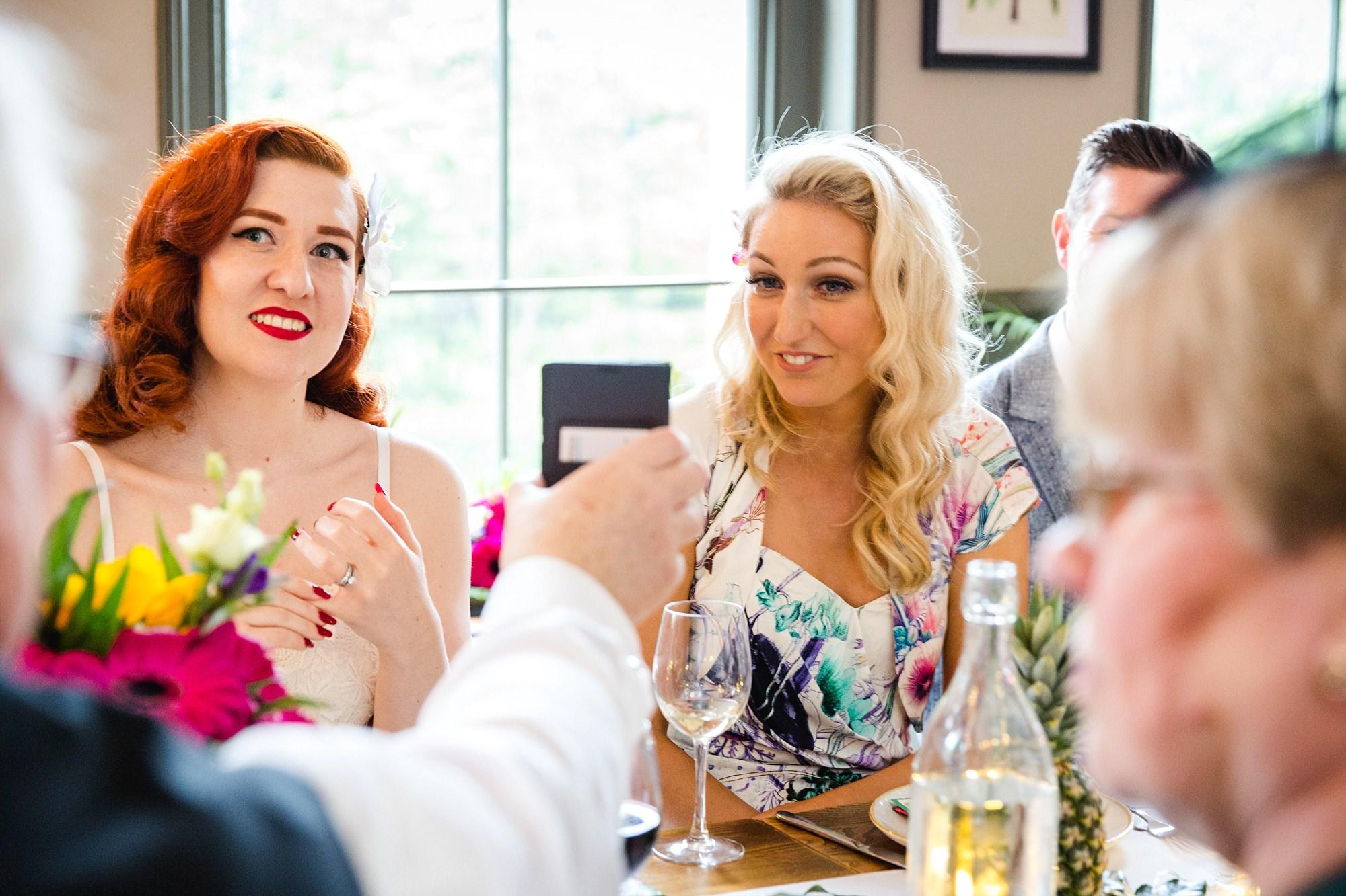 The Grange Ealing wedding guests enjoying dinner