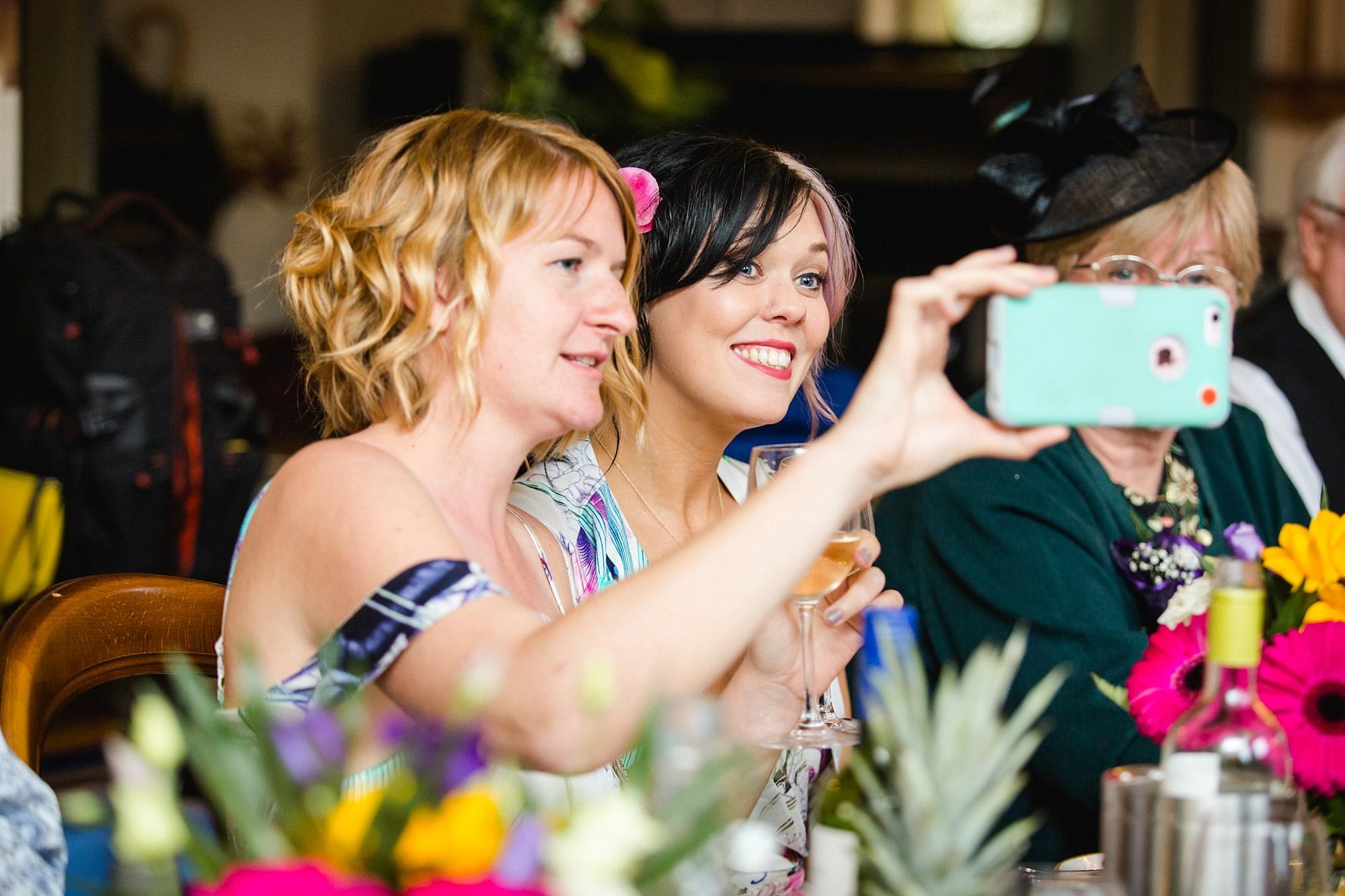 The Grange Ealing wedding bridesmaids take a selfie
