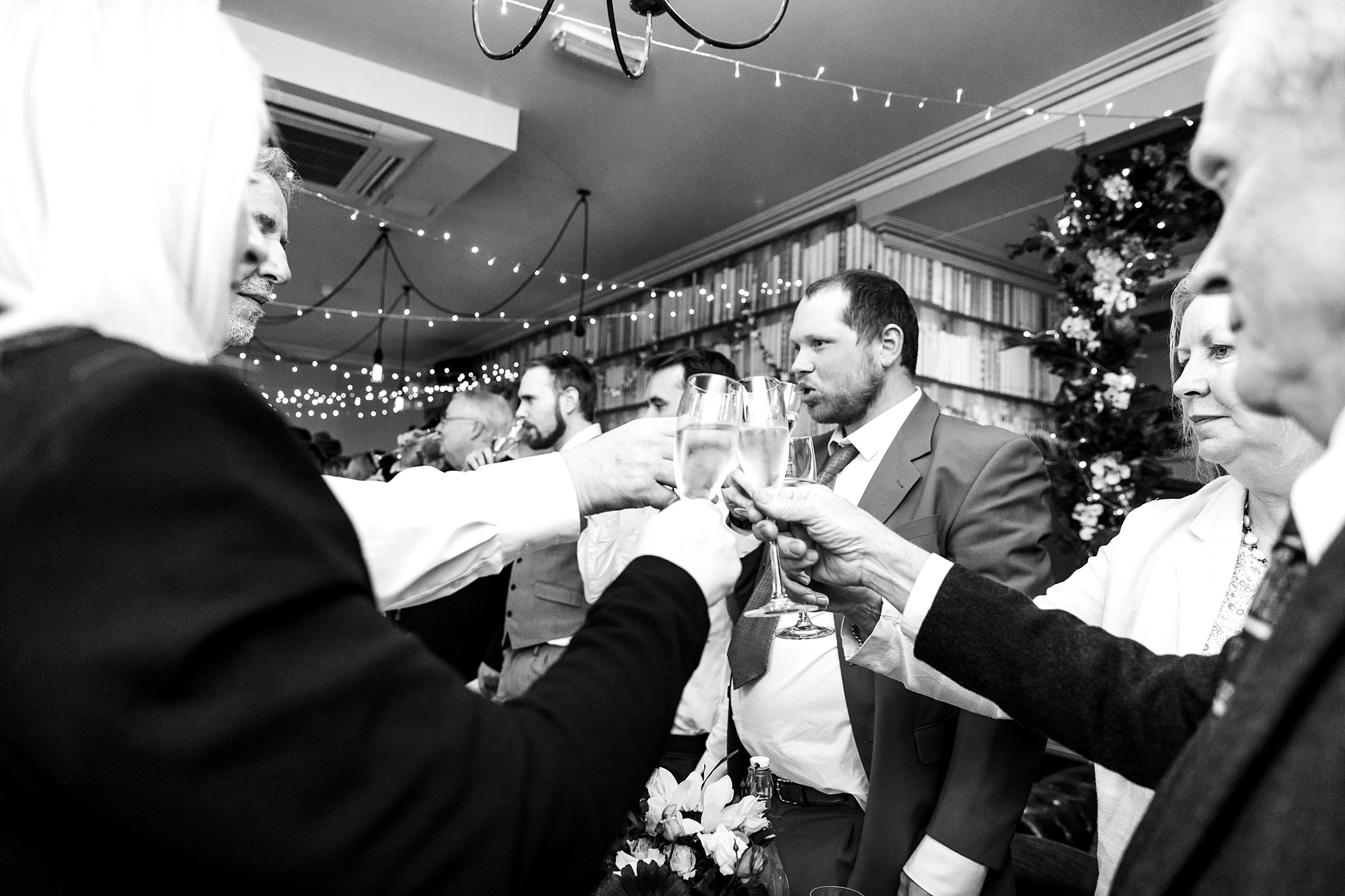 The Grange Ealing wedding guests toast during speeches