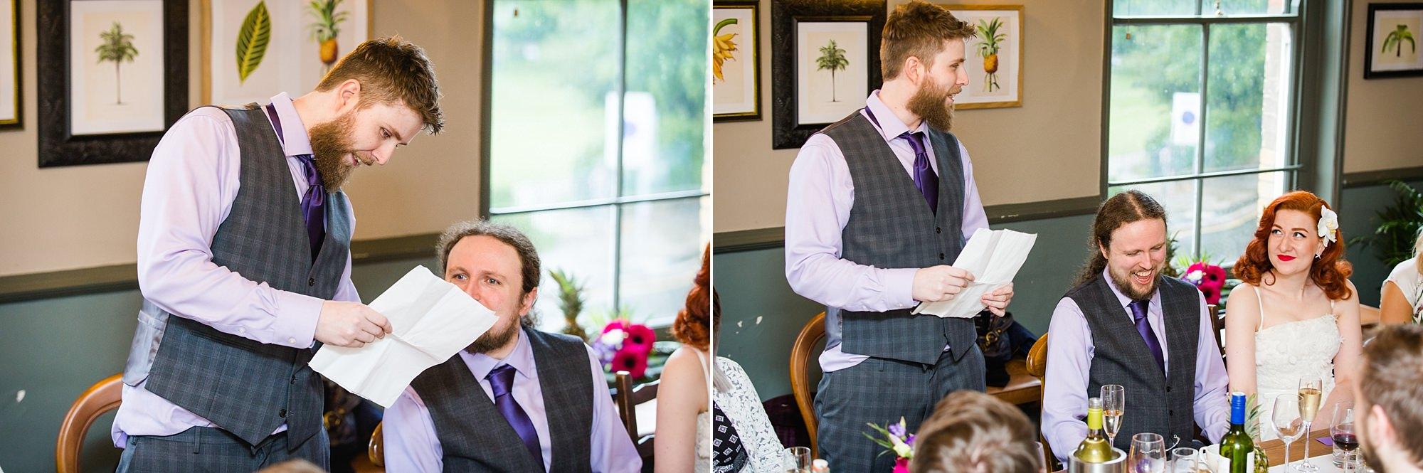 The Grange Ealing wedding fun best man speech