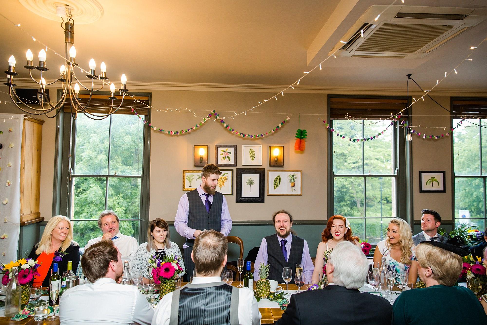 The Grange Ealing wedding funny best man speech