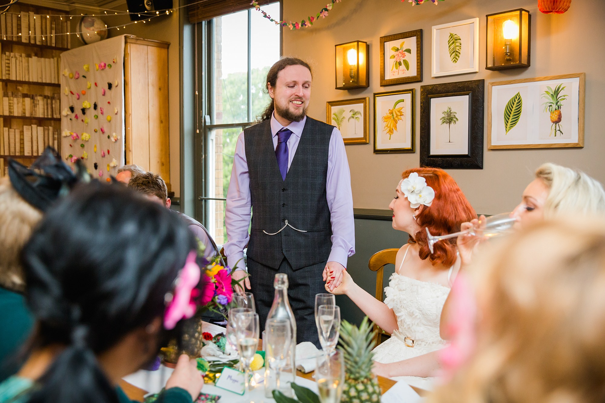 The Grange Ealing wedding portrait of groom giving speech